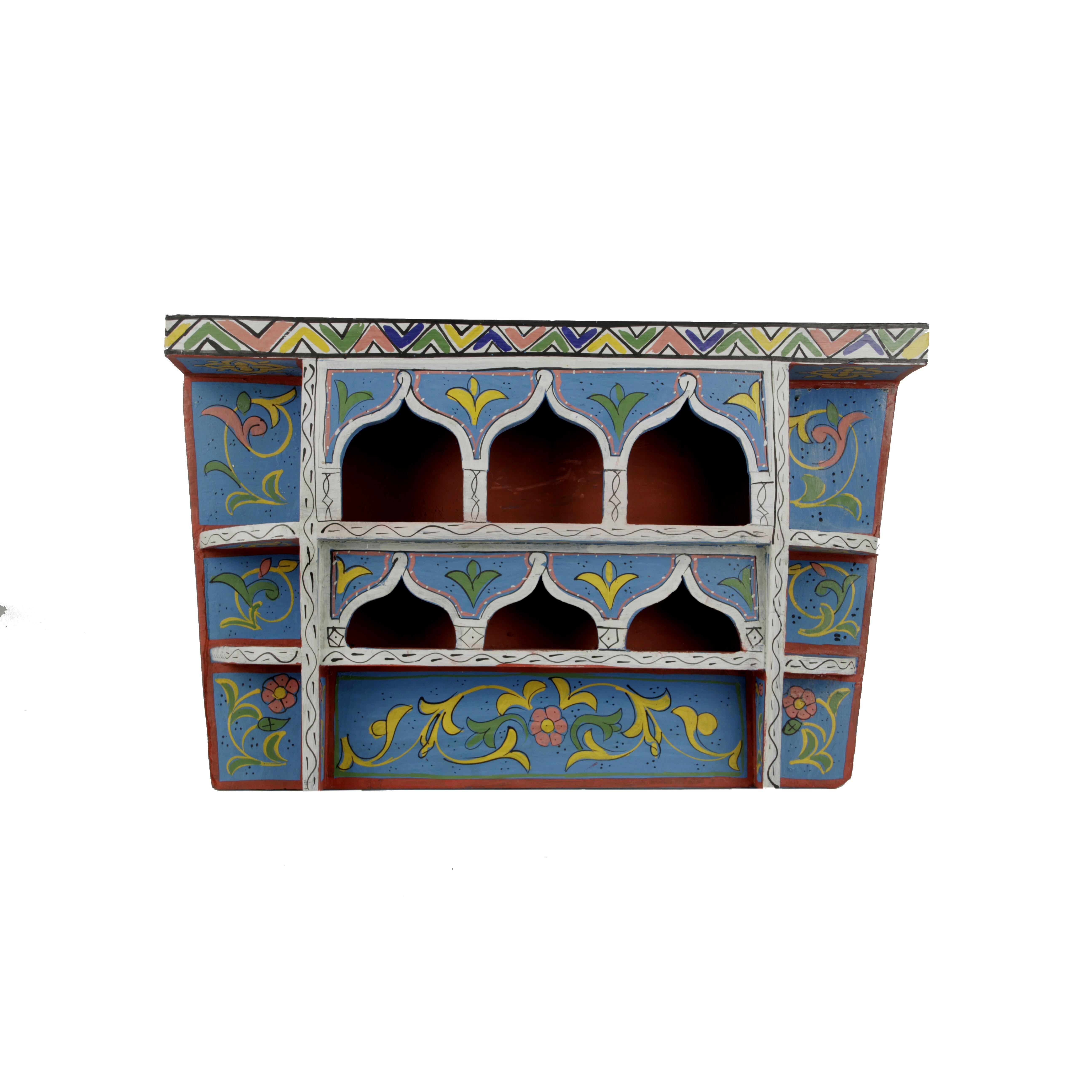 Moroccan Vintage Wood Shelf | Wayfair