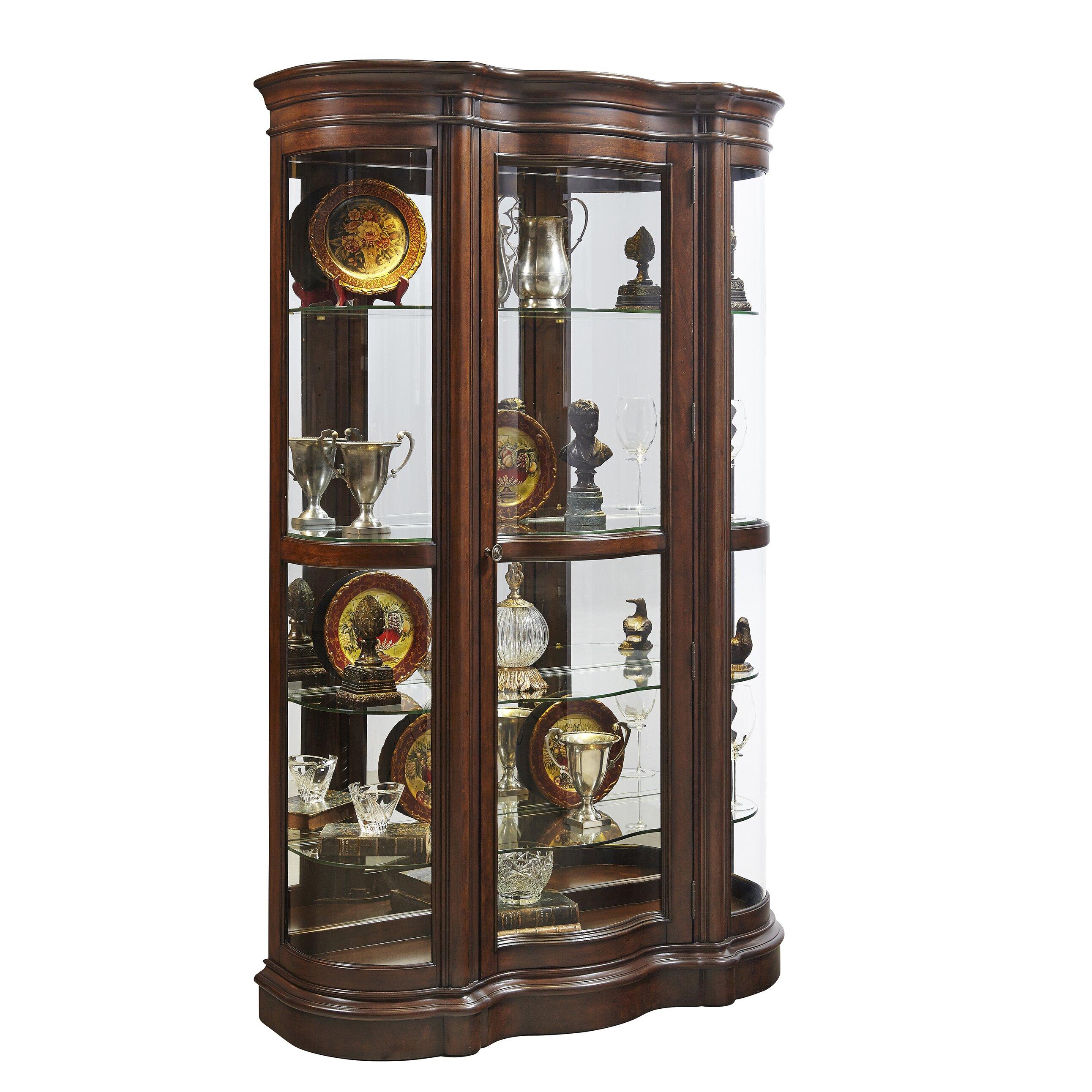 Harley Curio Cabinet Wayfair