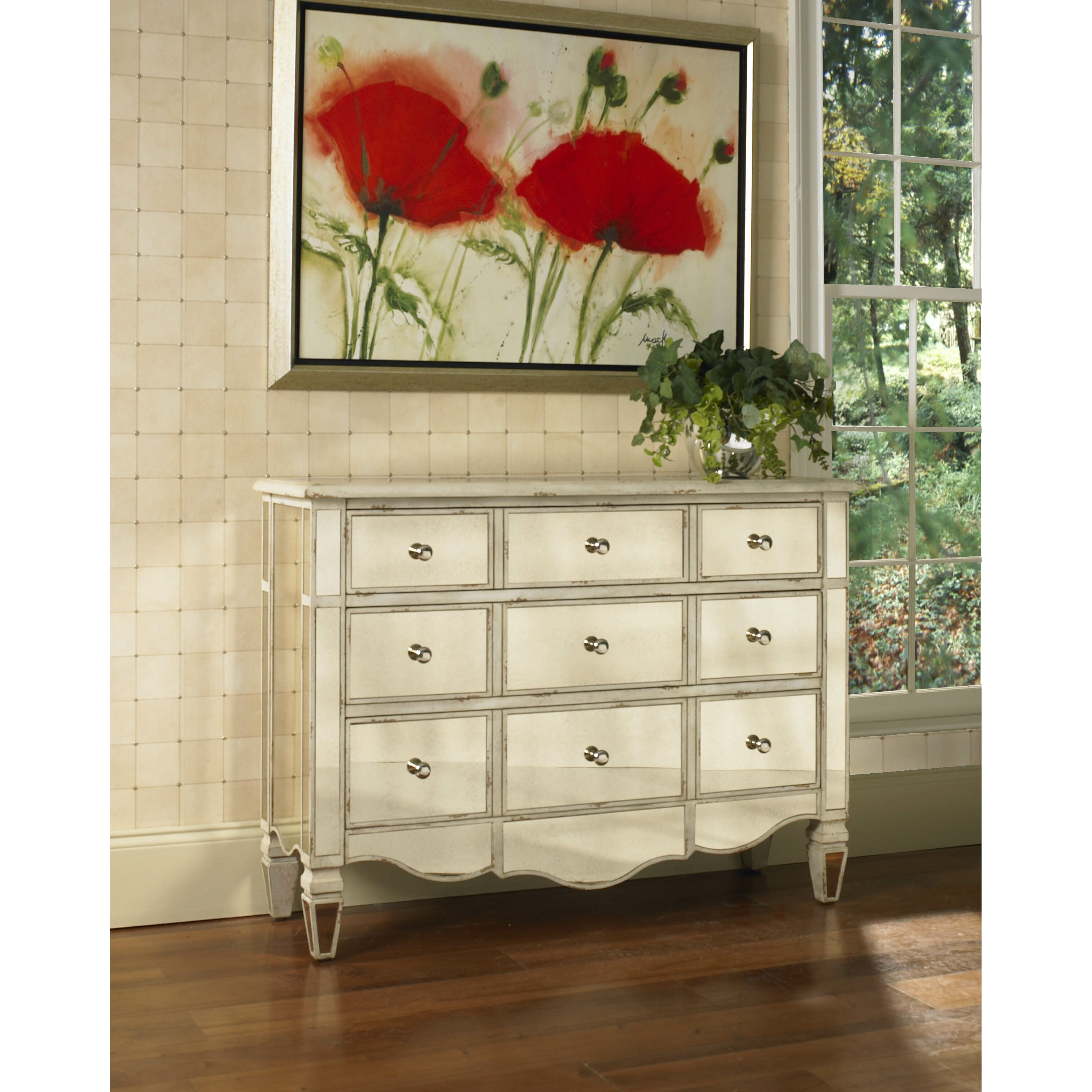 Radiance Mirrored 3 Drawer Accent Chest