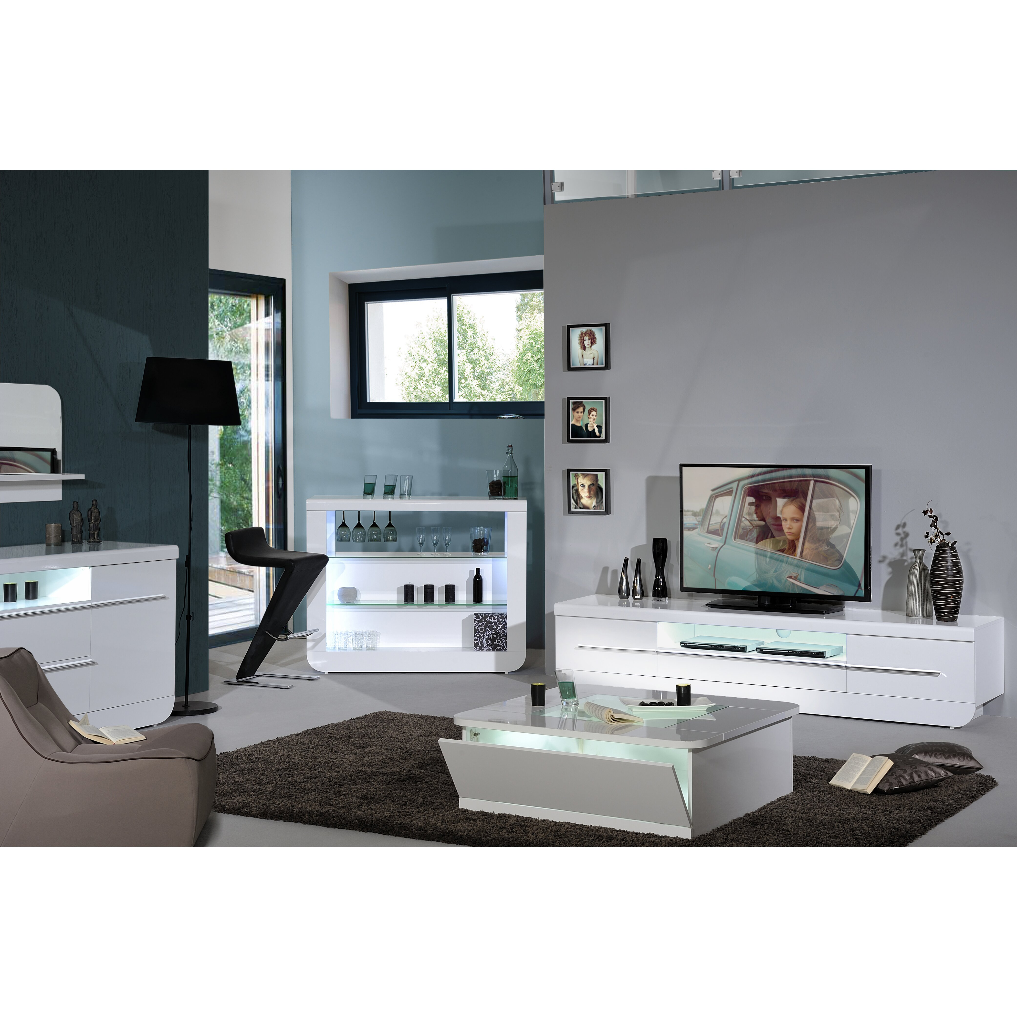 Urban designs annfield tv stand for tvs up to 61 quot amp reviews wayfair