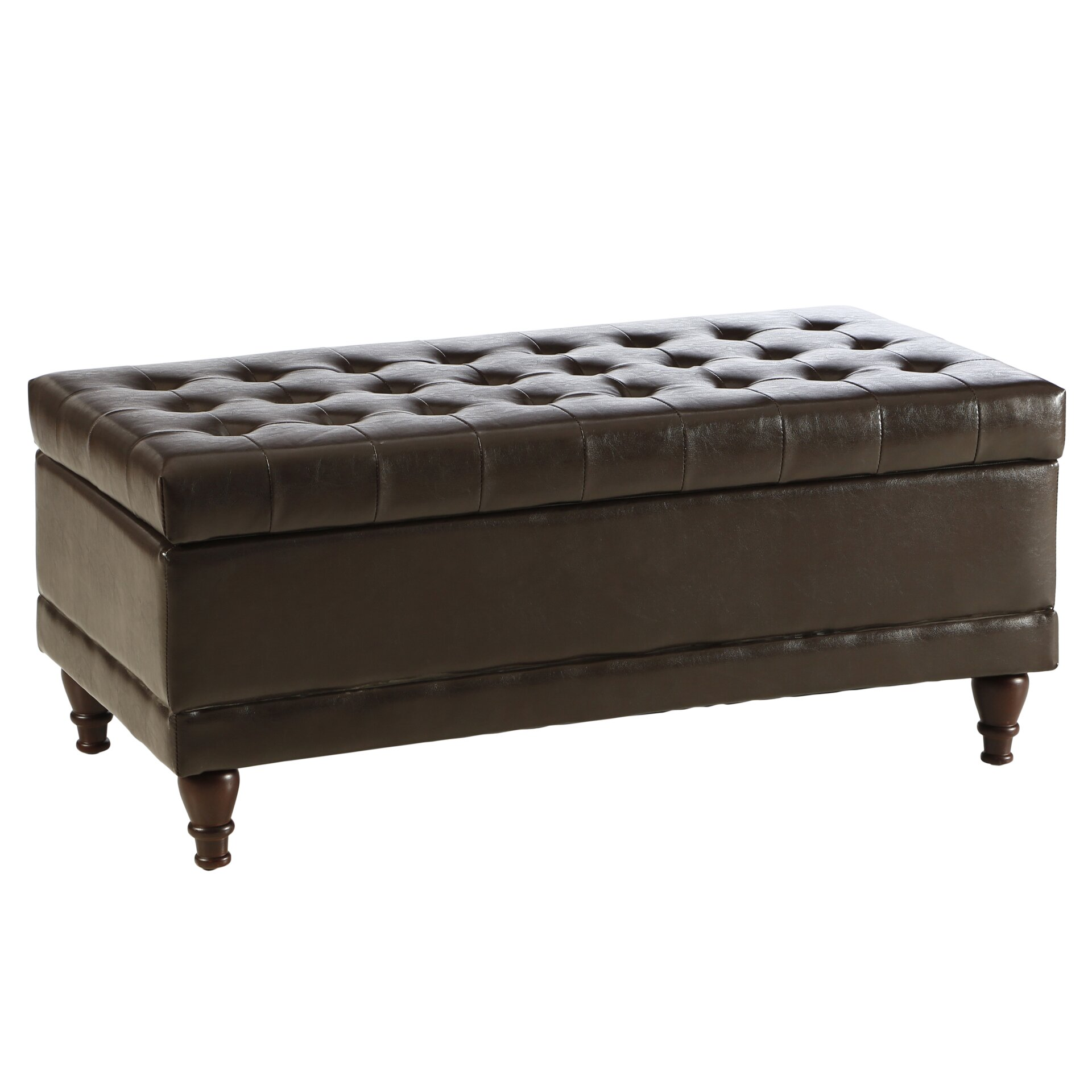 Three Posts Polycarp Storage Ottoman Reviews: Three Posts Amhearst Tufted Storage Ottoman & Reviews