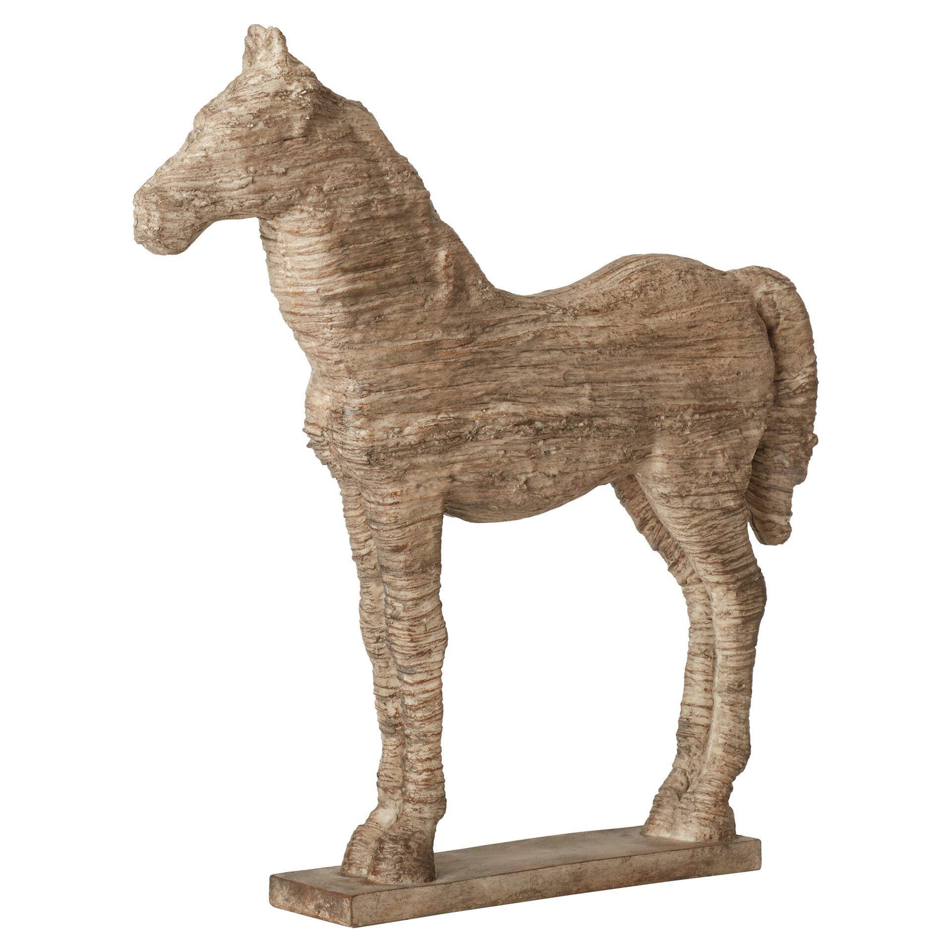 three posts horse table decor statue reviews wayfair. Black Bedroom Furniture Sets. Home Design Ideas