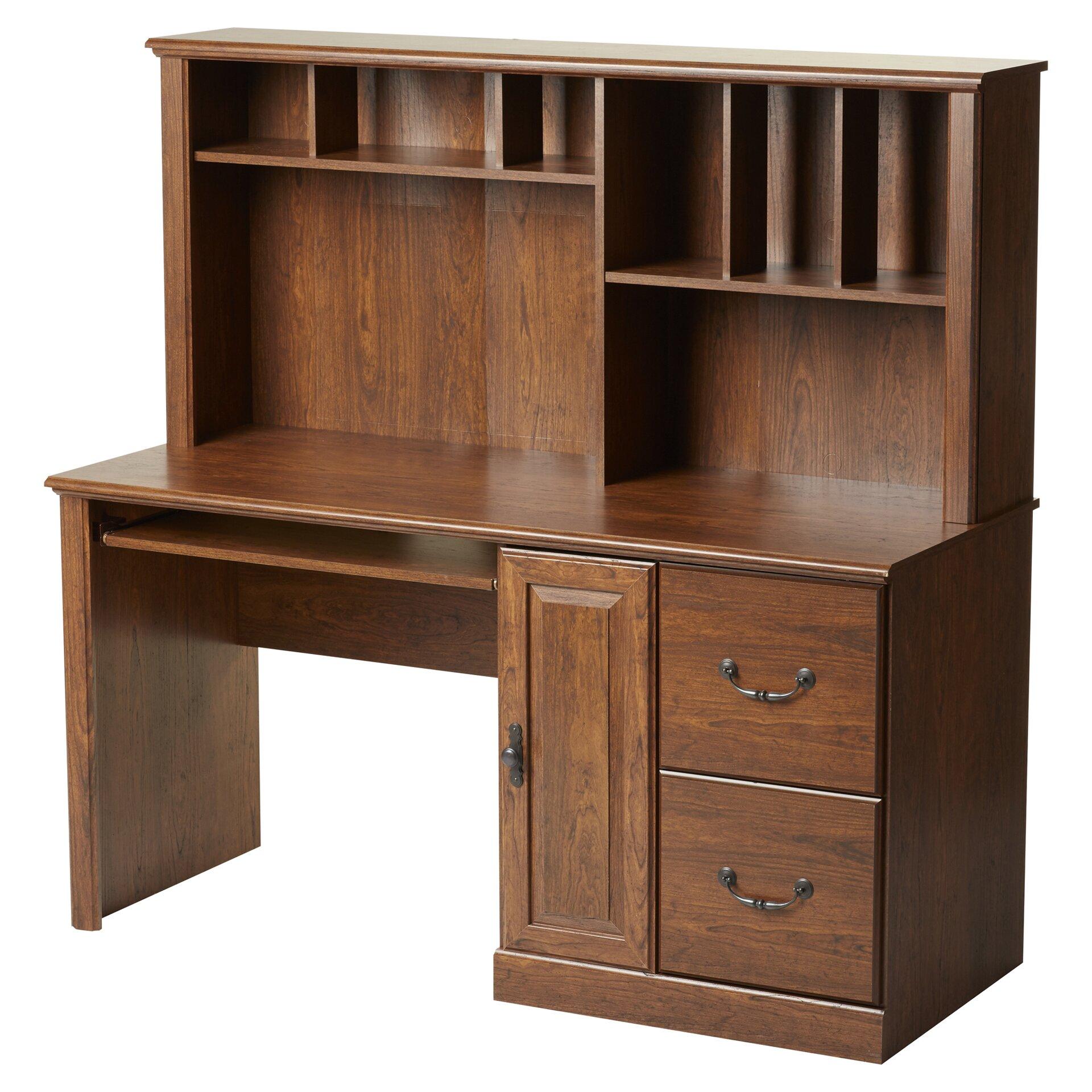 Bedroom Computer Desks Leith Computer Desk With Hutch Wayfair