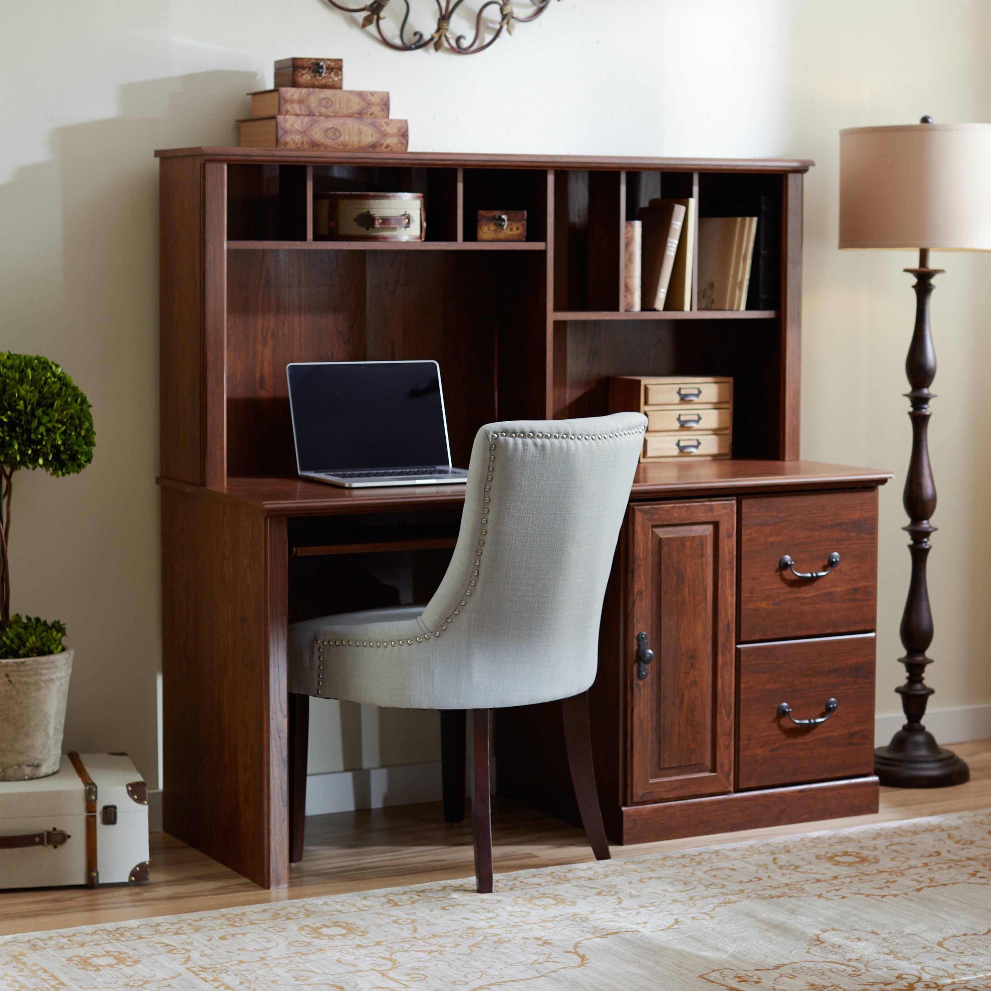 Leith Computer Desk With Hutch Wayfair