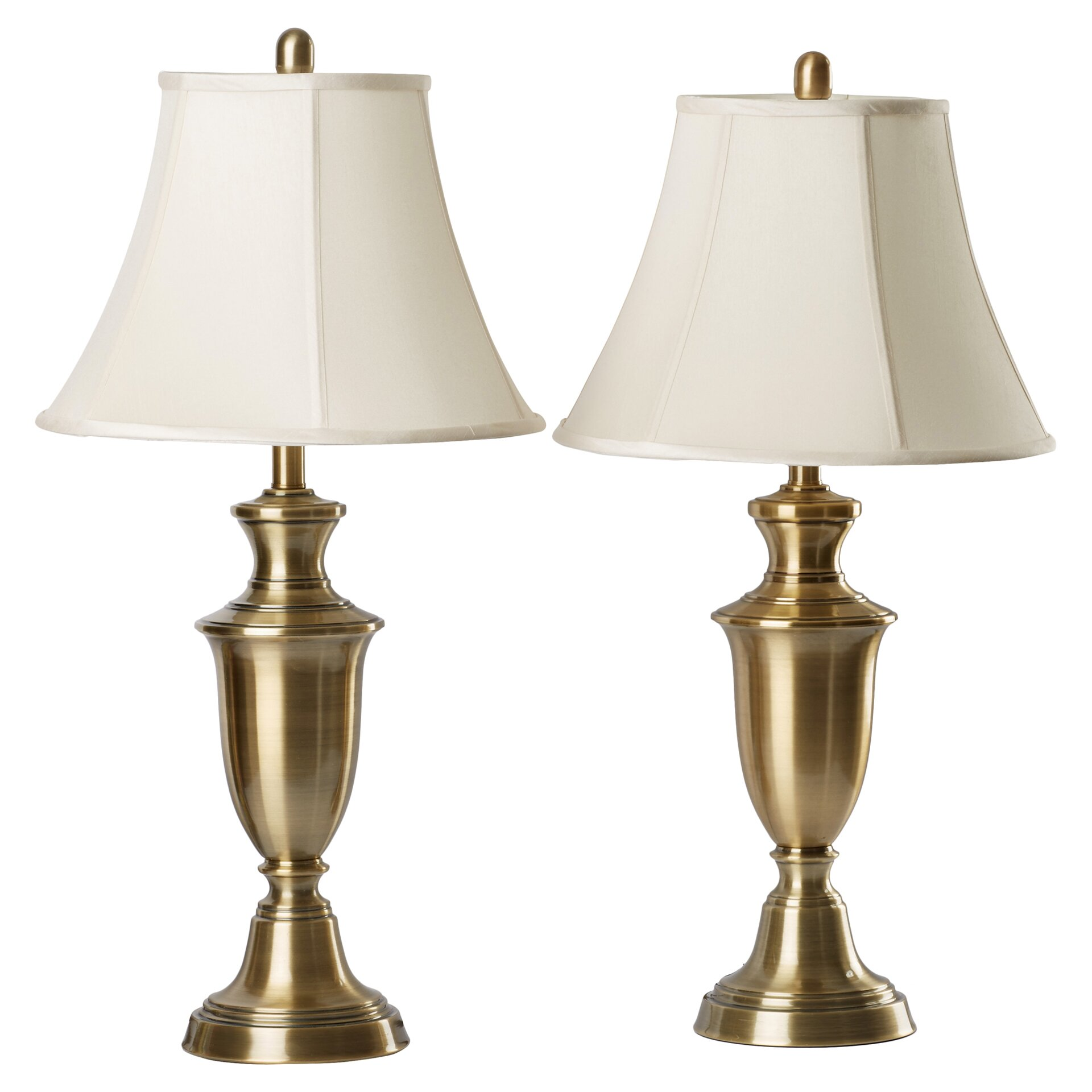 """Metal Bell Lamp Shade: Steel Table Almps 30.5"""" H Table Lamp With Bell Shade"""