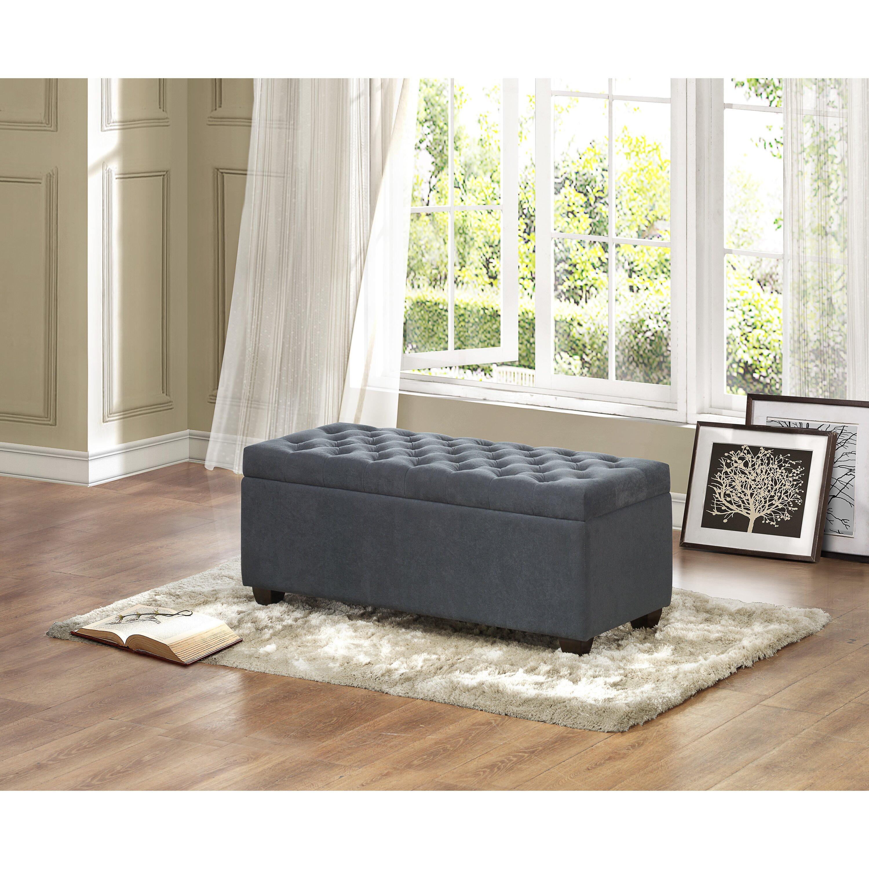 Three posts virgil upholstered storage bedroom bench - Bedroom storage bench upholstered ...