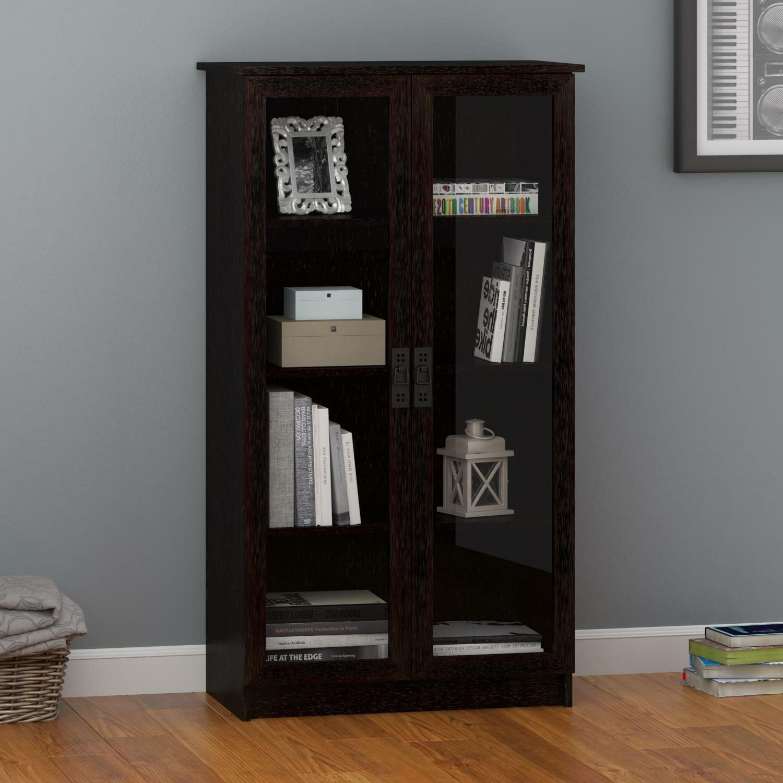 Three Posts Lyonsdale Glass Door 53 Quot Standard Bookcase
