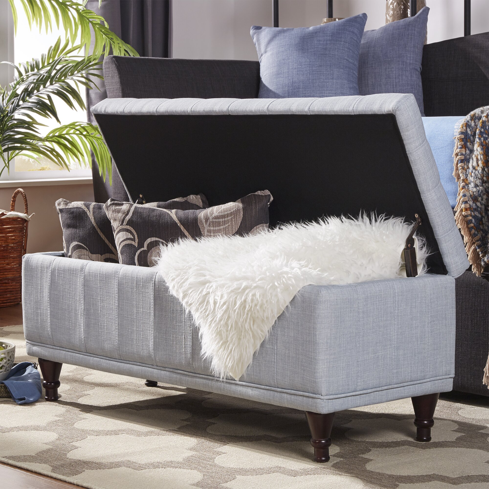 Varian Upholstered Storage Bedroom Bench Reviews: Three Posts Southampton Upholstered Storage Bedroom Bench