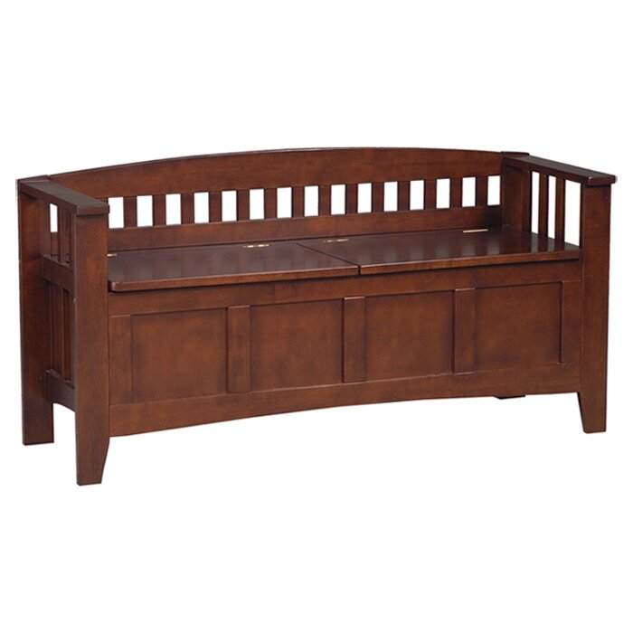 Three Posts Bridgewater Wood Storage Bench Amp Reviews Wayfair