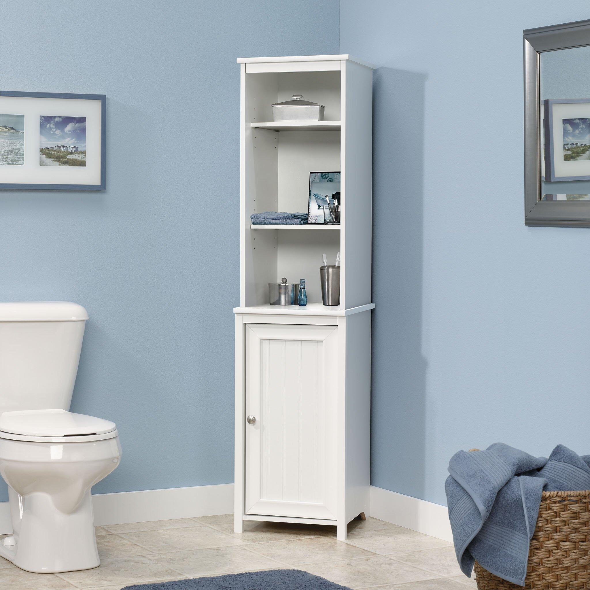 Pinecrest x freestanding linen tower wayfair - Freestanding bathroom linen closet ...