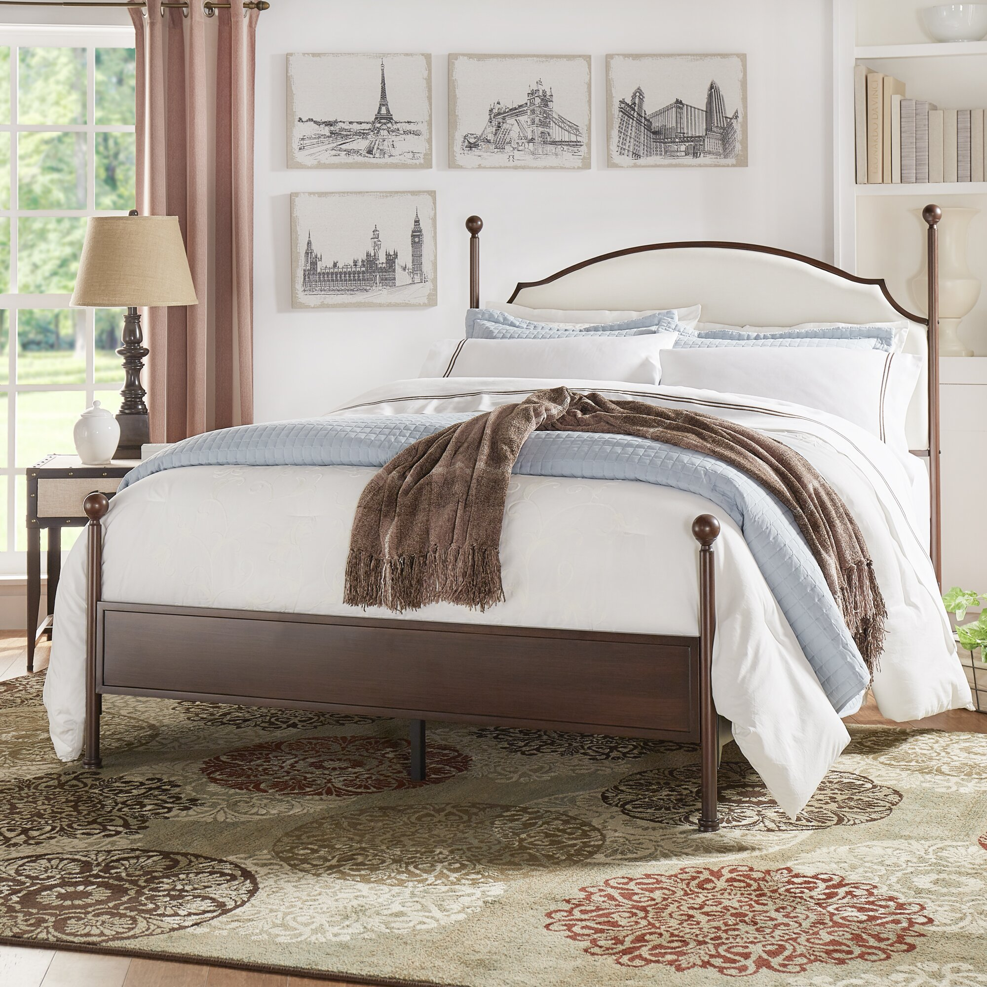 three posts isabelyn upholstered panel bed reviews wayfair