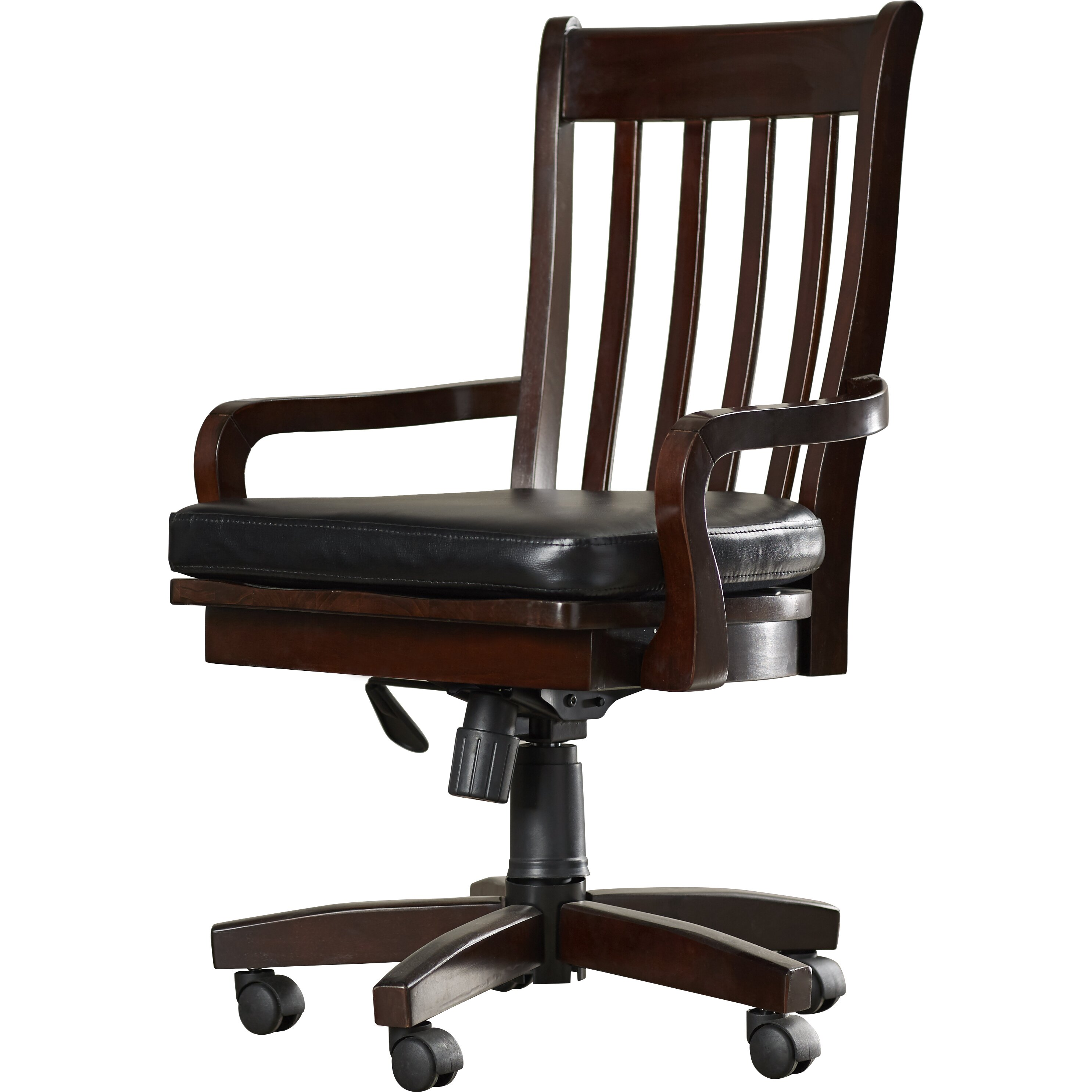 Three Posts Barrville High Back Swivel Arm Chair With