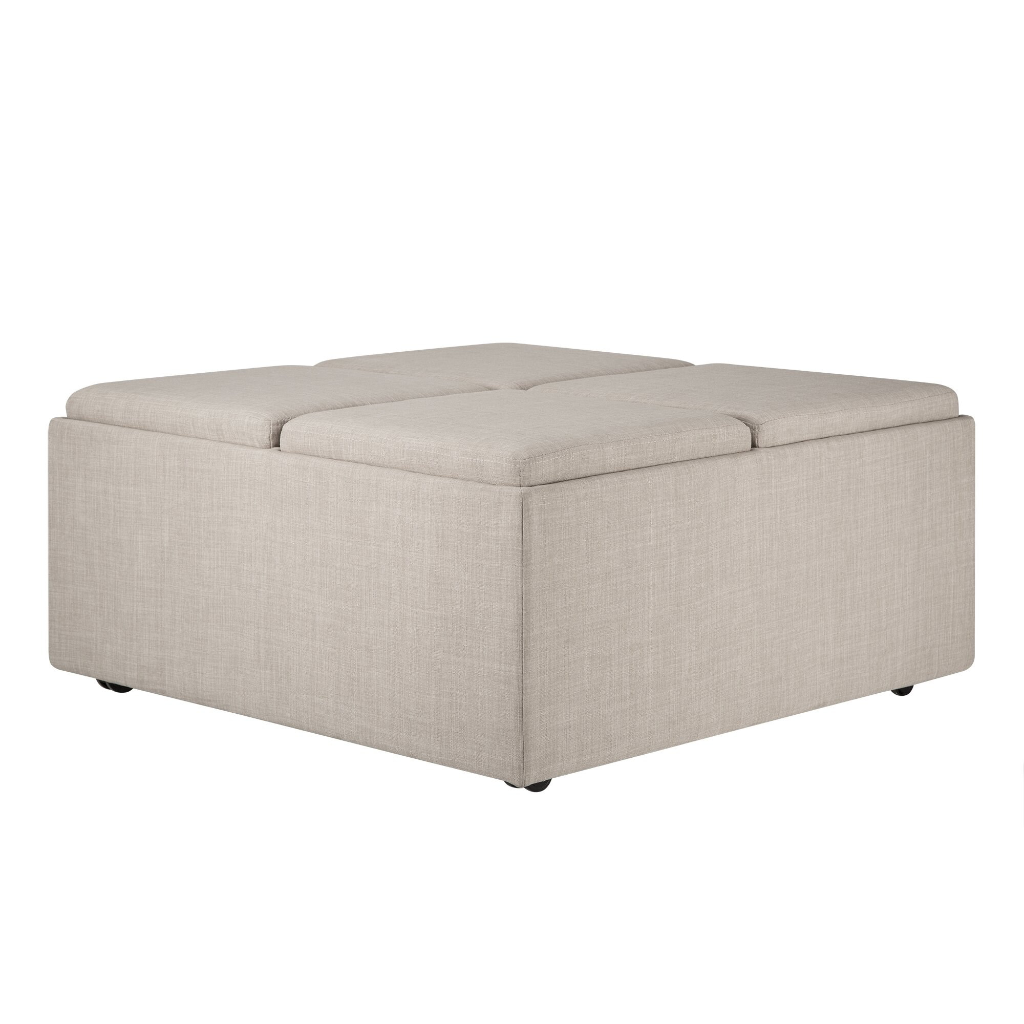 Three Posts Polycarp Storage Ottoman Reviews