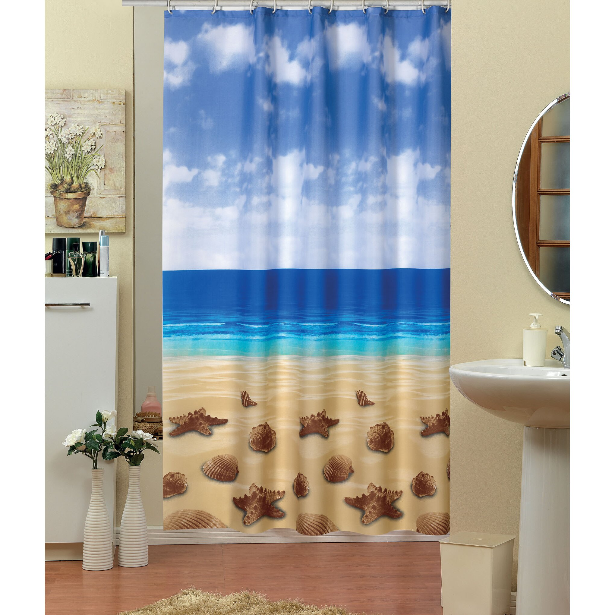 beytug textile beach shower curtain reviews wayfair uk