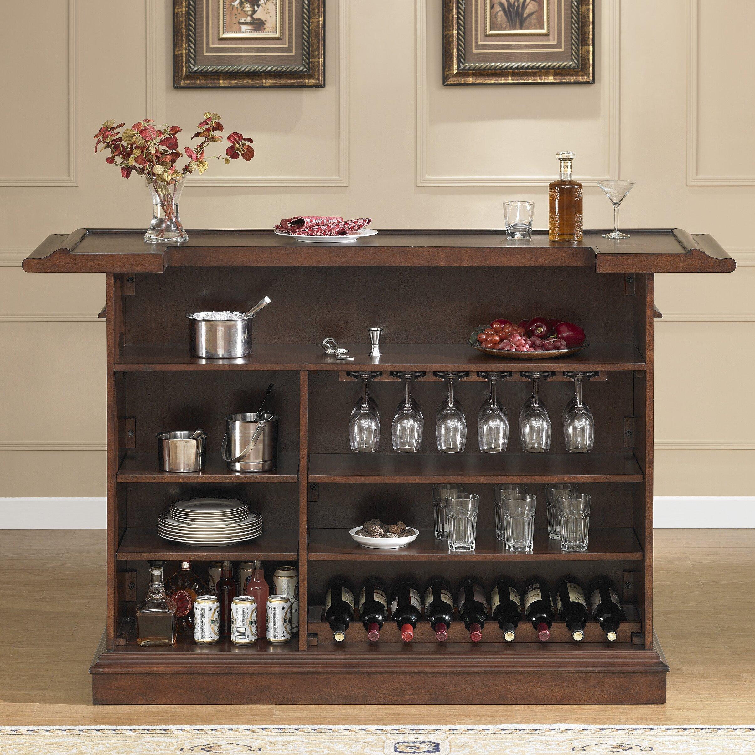 american heritage valore bar with wine storage reviews wayfair. Black Bedroom Furniture Sets. Home Design Ideas
