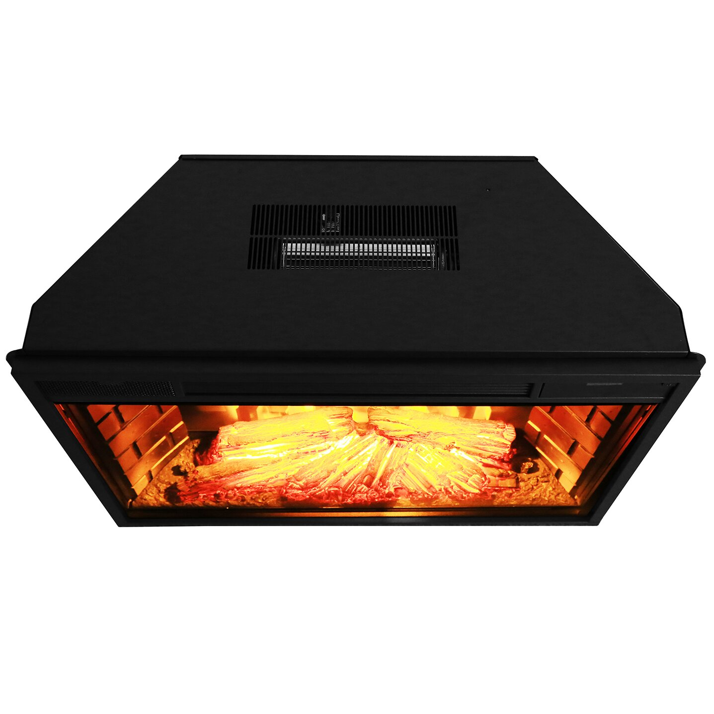 Electric Fireplace Inserts With Heater: 28'' Electric Fireplace Insert