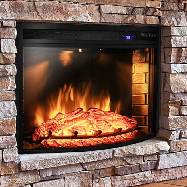 akdy 28 curved electric fireplace insert reviews wayfair
