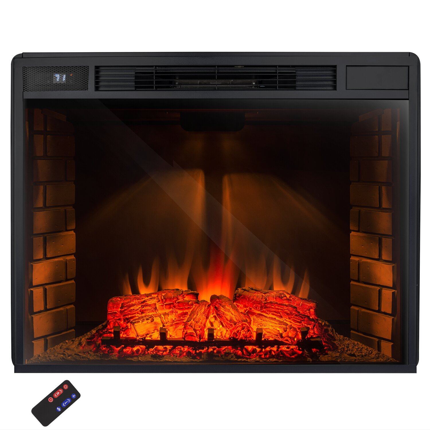 akdy 33 insert freestanding 3d logs flame electric