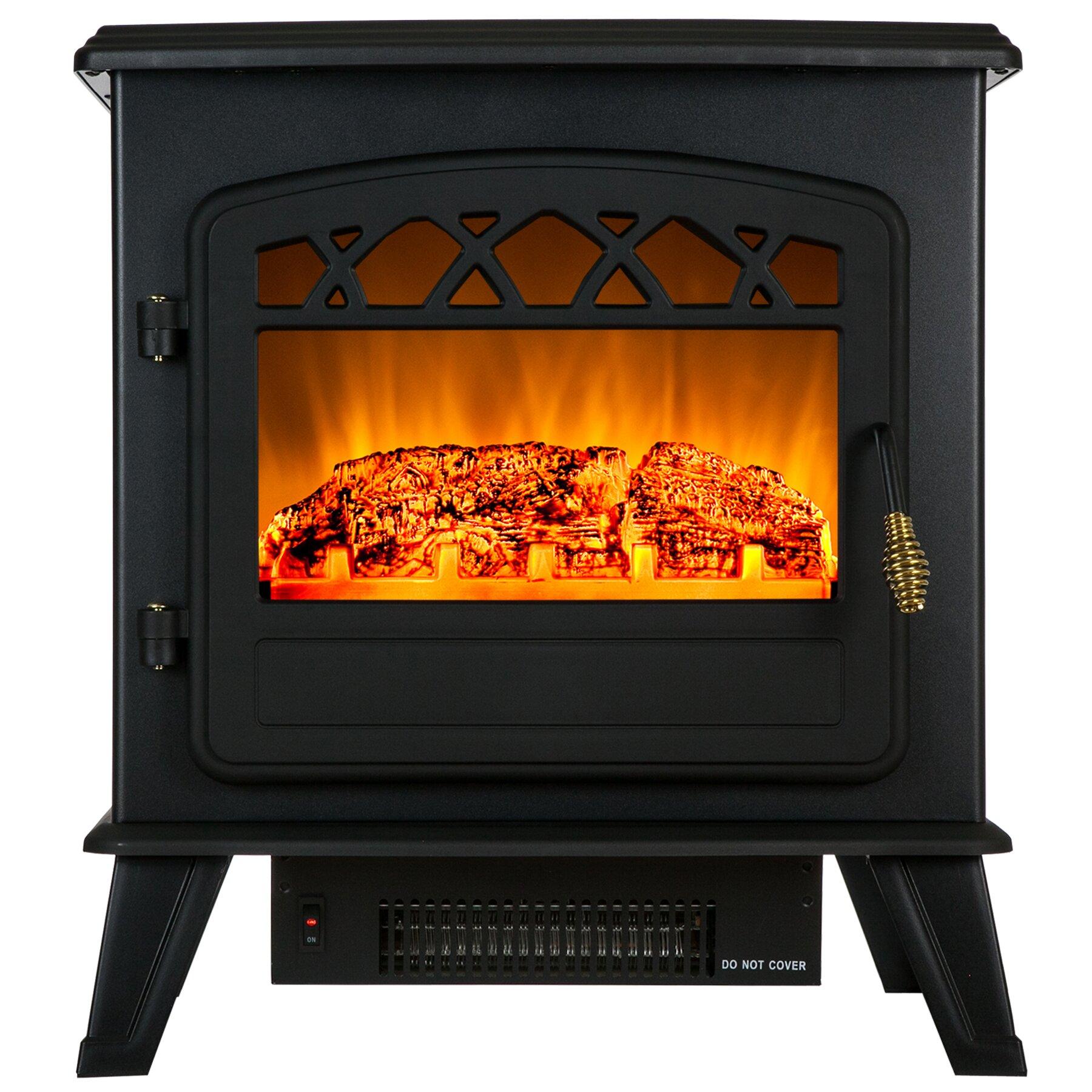 Freestanding Electric Fireplace   Wayfair