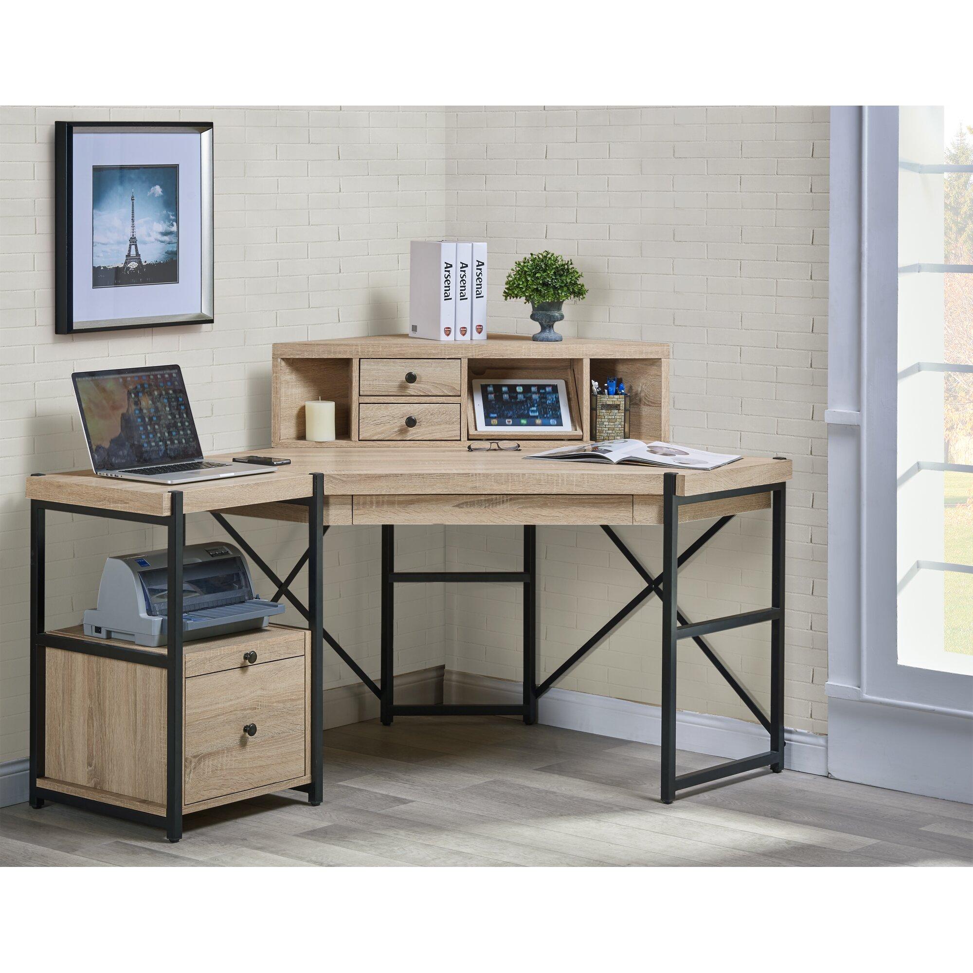 hancock corner desk with hutch wayfair. Black Bedroom Furniture Sets. Home Design Ideas
