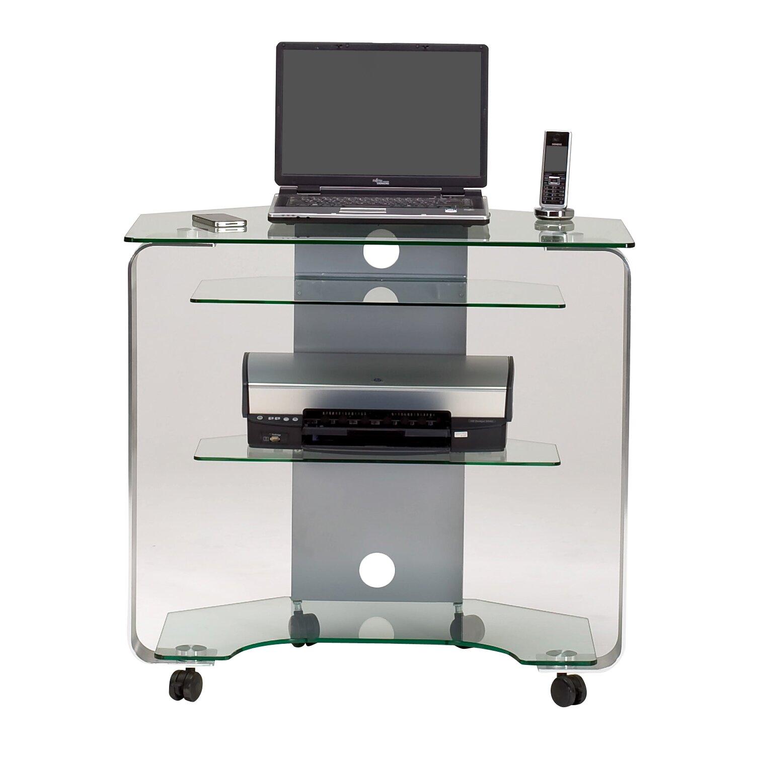 computertisch cuuba mit rollen von jahnke. Black Bedroom Furniture Sets. Home Design Ideas