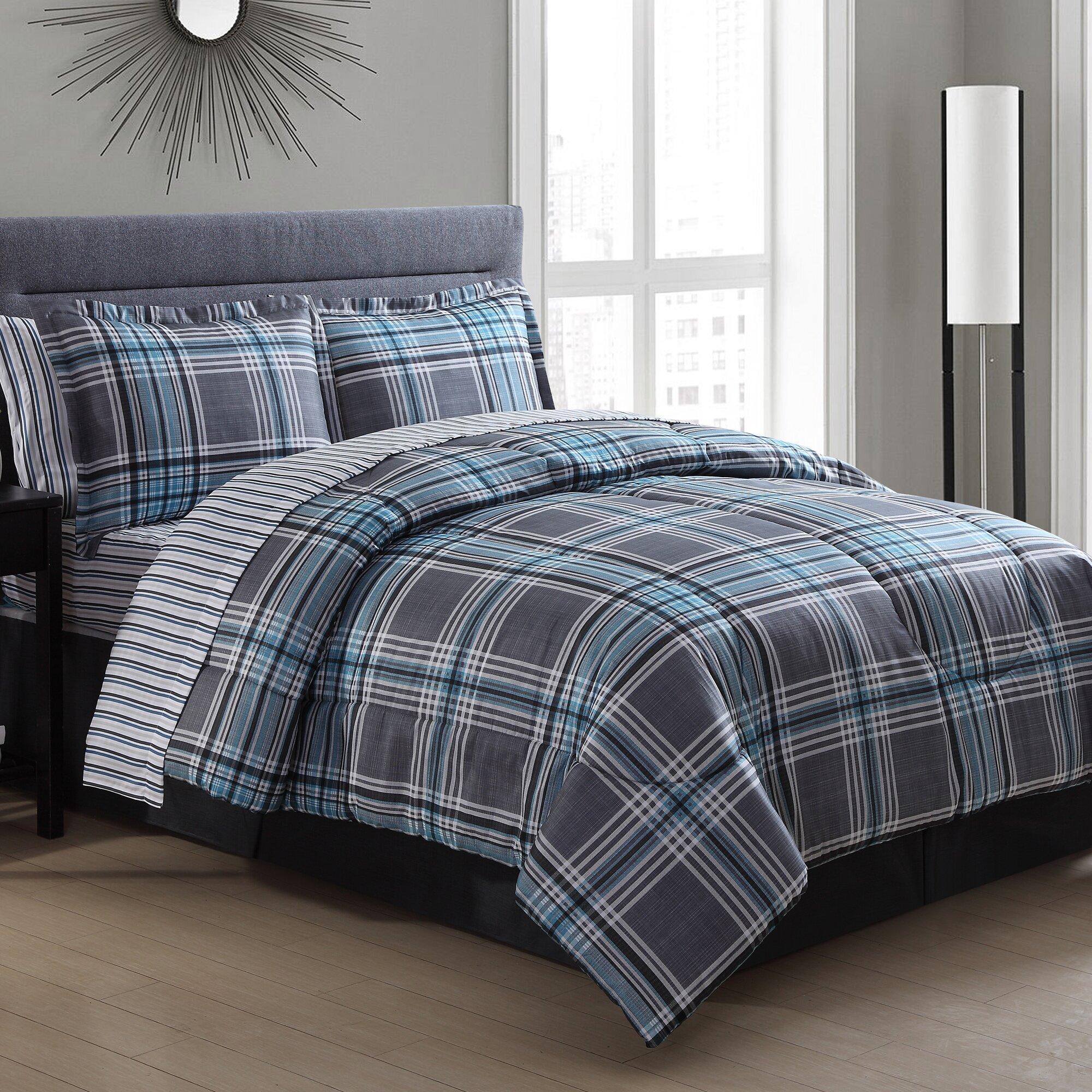 Chelsea Plaid Bed In A Bag Set Wayfair