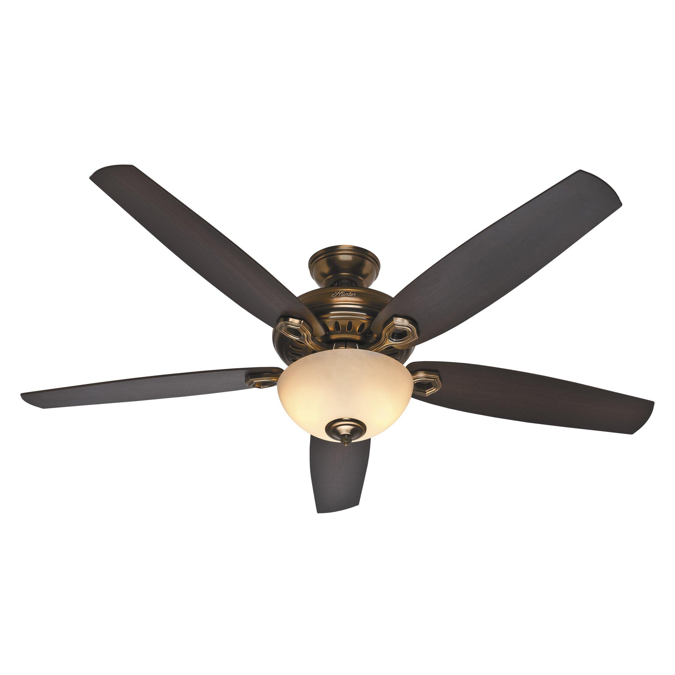 "Hunter Capshaw 60 Premier Bronze Ceiling Fan With Light: 60"" Valerian 5 Blade Ceiling Fan"