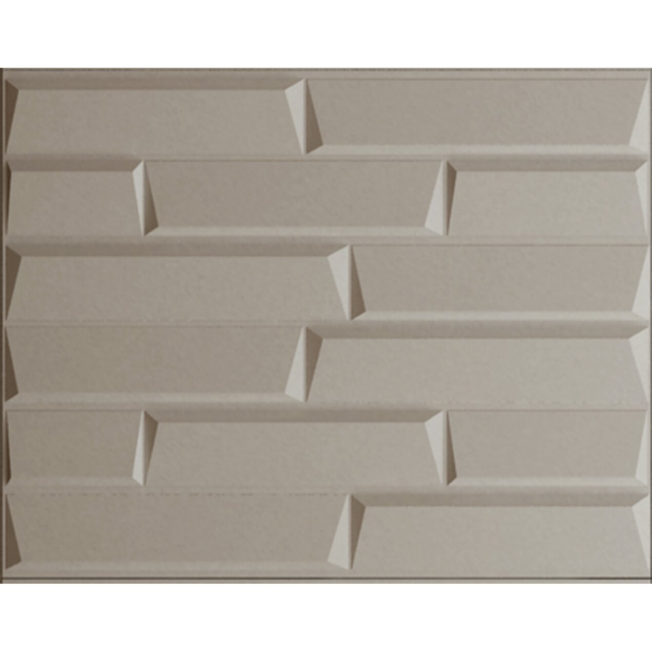 "31.4' X 24.6"" Paintable Brick 3D Embossed 3 Piece Panel"