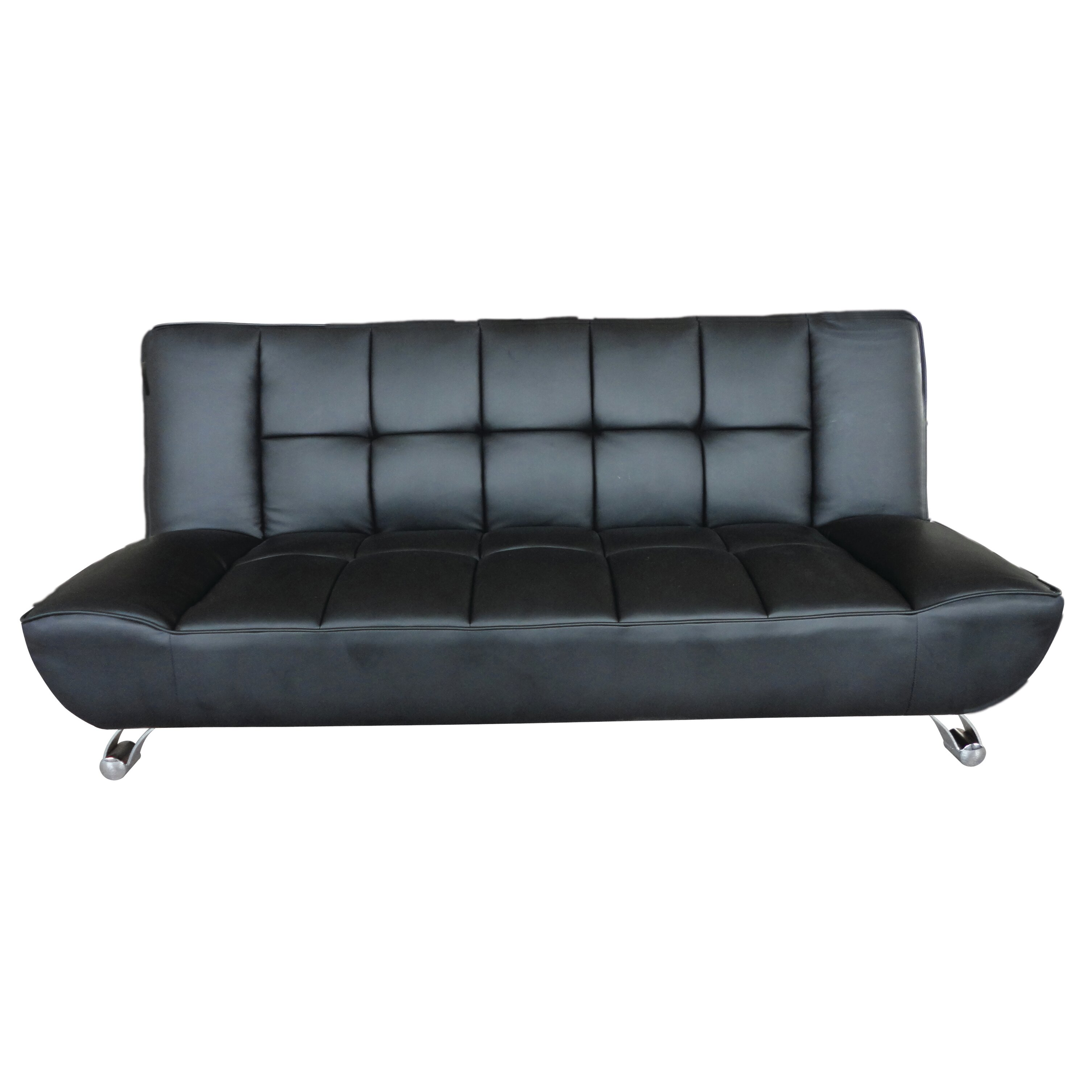 all home vogue 3 seater clic clac sofa bed reviews wayfair uk. Black Bedroom Furniture Sets. Home Design Ideas