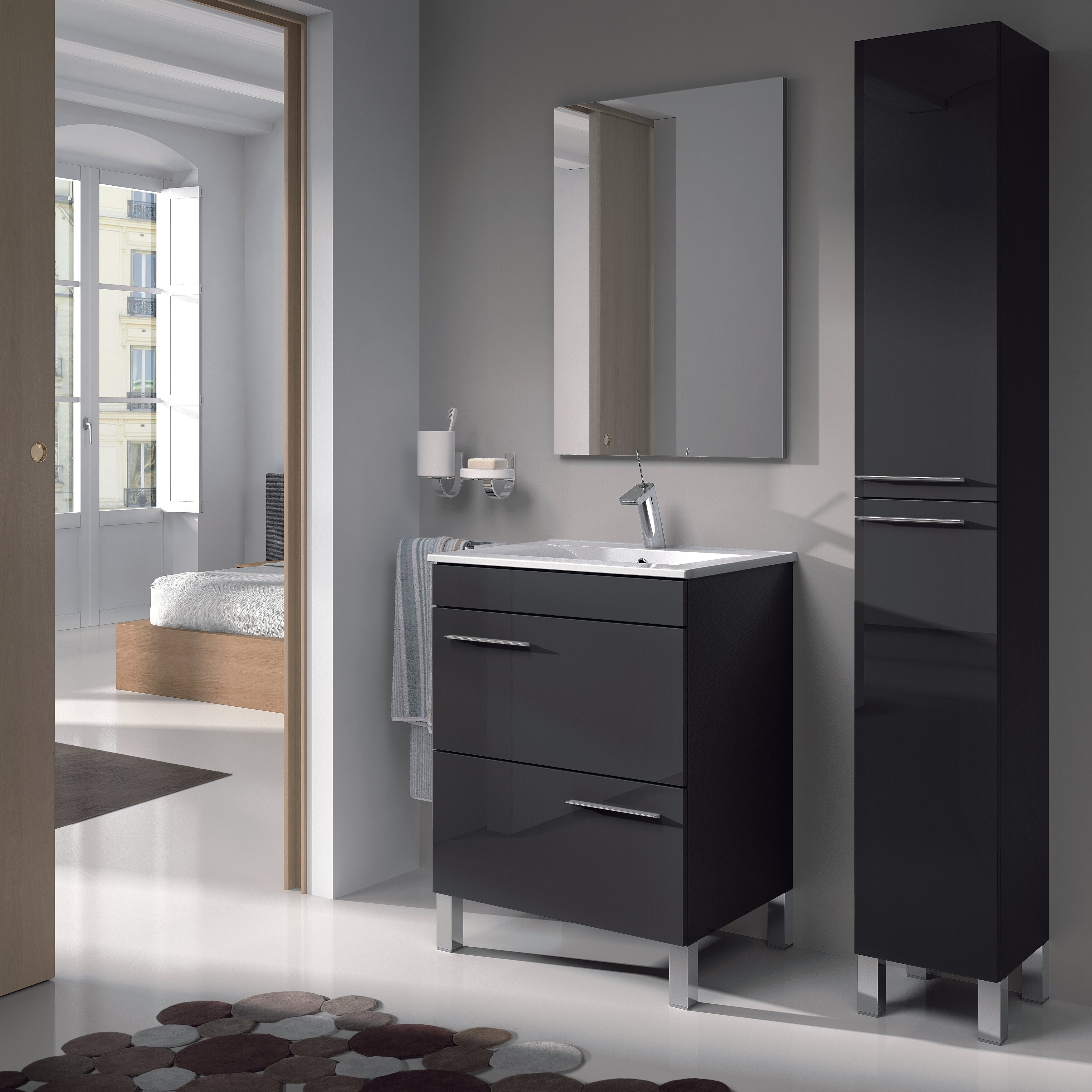 Home Etc Althea 30 X 182 Cm Free Standing Tall Bathroom