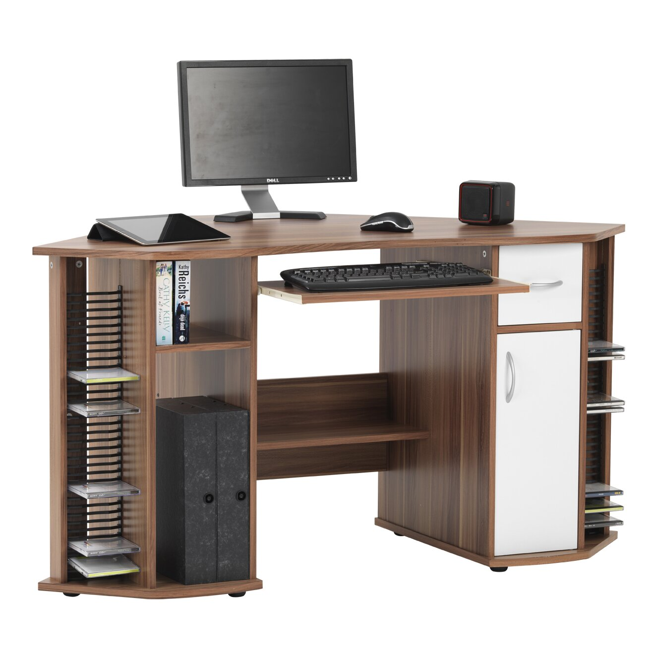 Maxam Computer Desk With Keyboard Tray Wayfair Uk