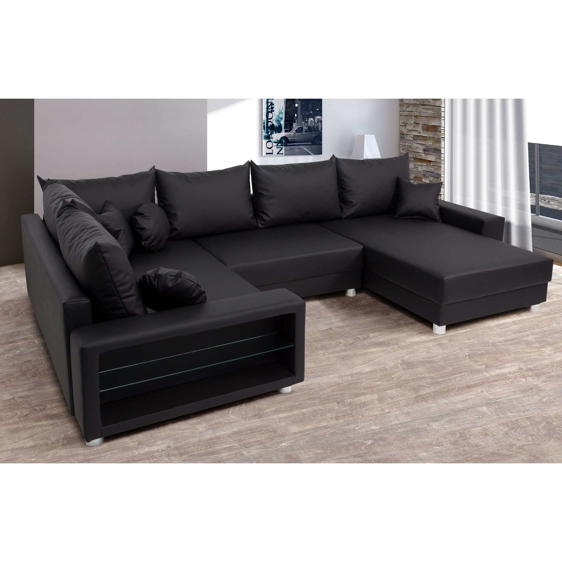 sofa barigan river mit led beleuchtung von home haus. Black Bedroom Furniture Sets. Home Design Ideas