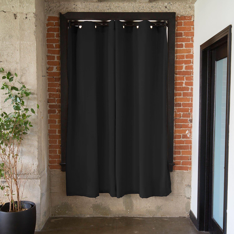 roomdividersnow tension single curtain rod reviews wayfair. Black Bedroom Furniture Sets. Home Design Ideas