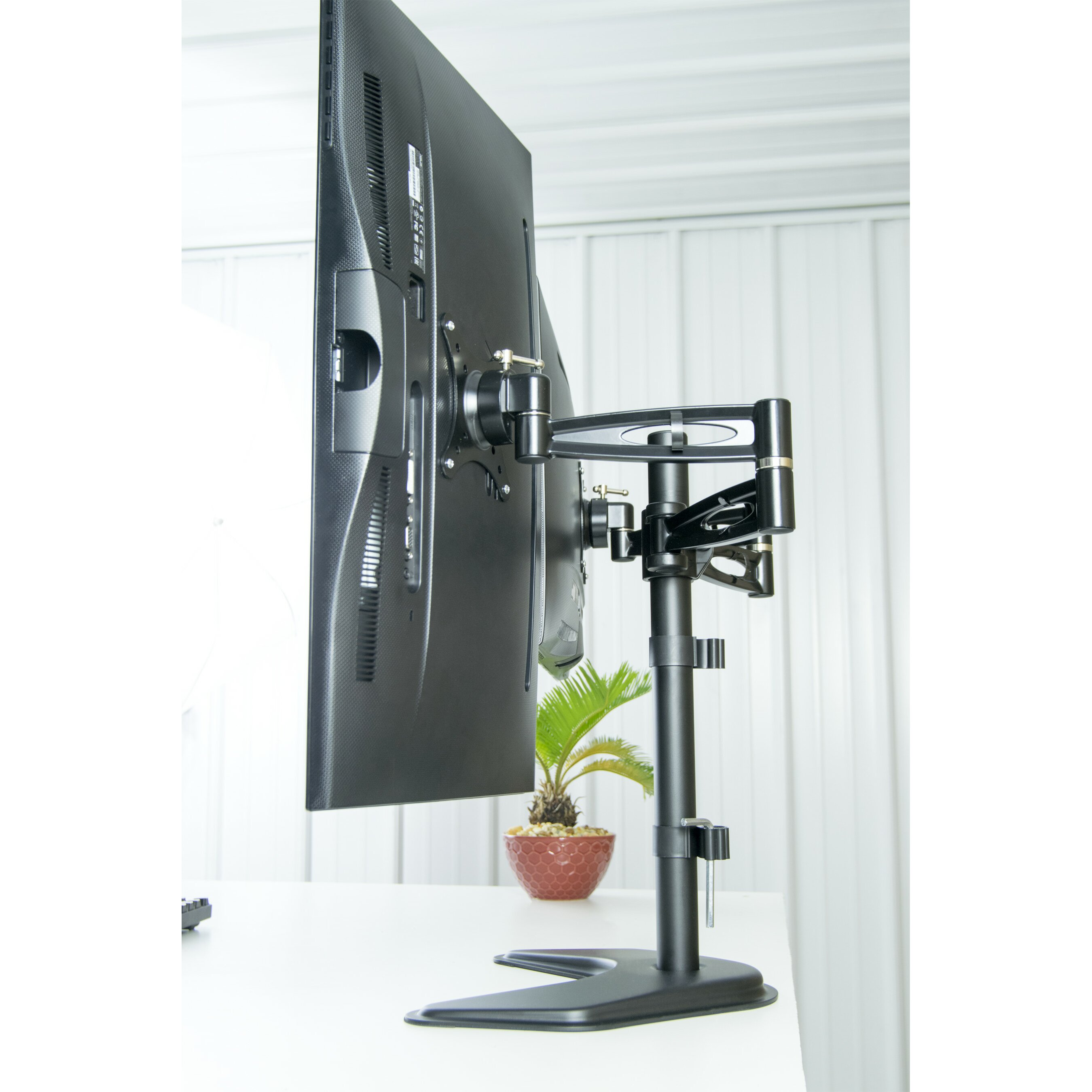 Dual Lcd Monitor Free Standing Height Adjustable 2 Screen