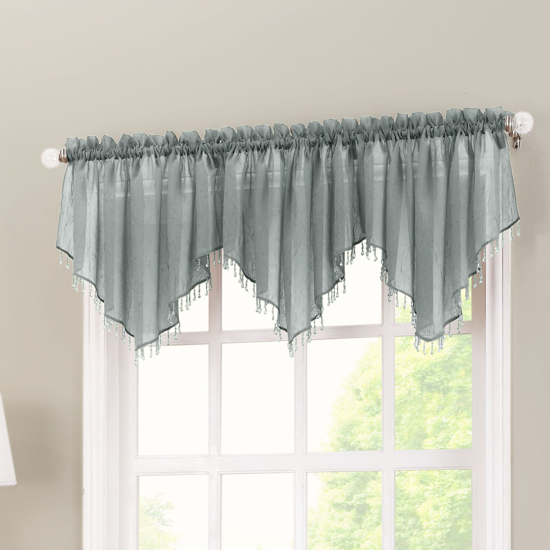 No 918 Crushed Sheer Voile 51 Curtain Valance Amp Reviews