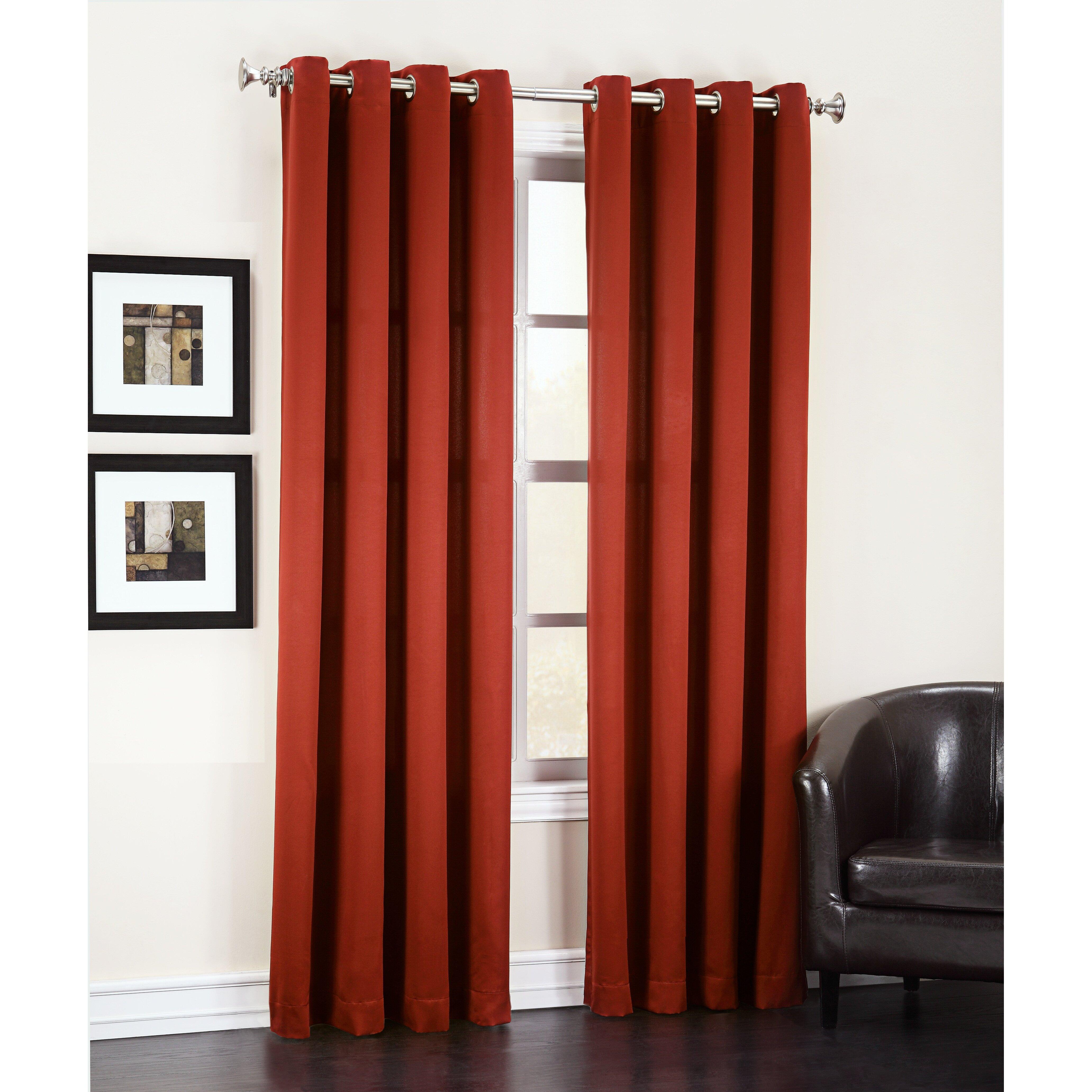 Sun Zero Groton Light Blocking Single Curtain Panel