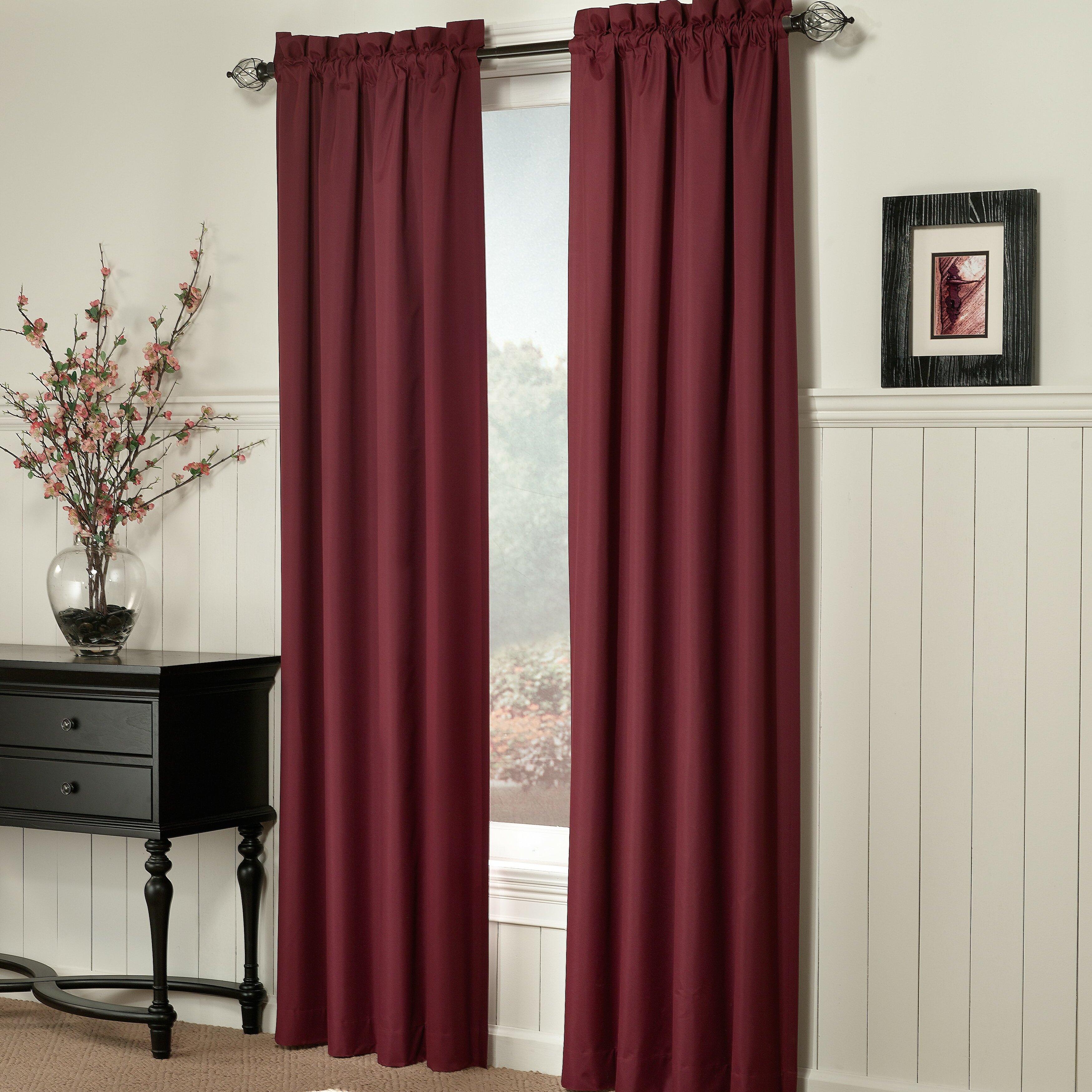 brockton thermal lined single curtain panel wayfair. Black Bedroom Furniture Sets. Home Design Ideas