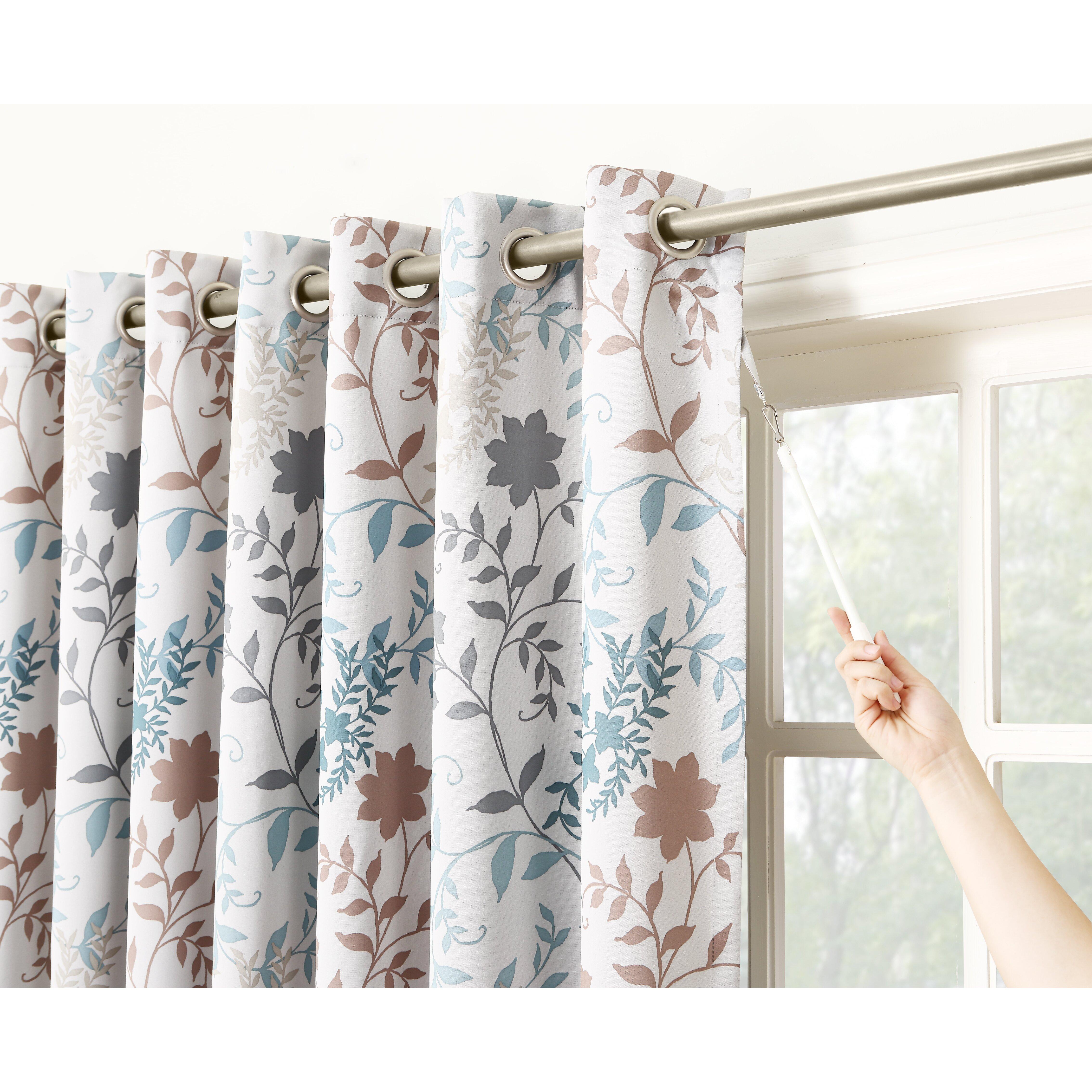 Auburn Floral Extra Wide Grommet Patio Door Single Curtain ...