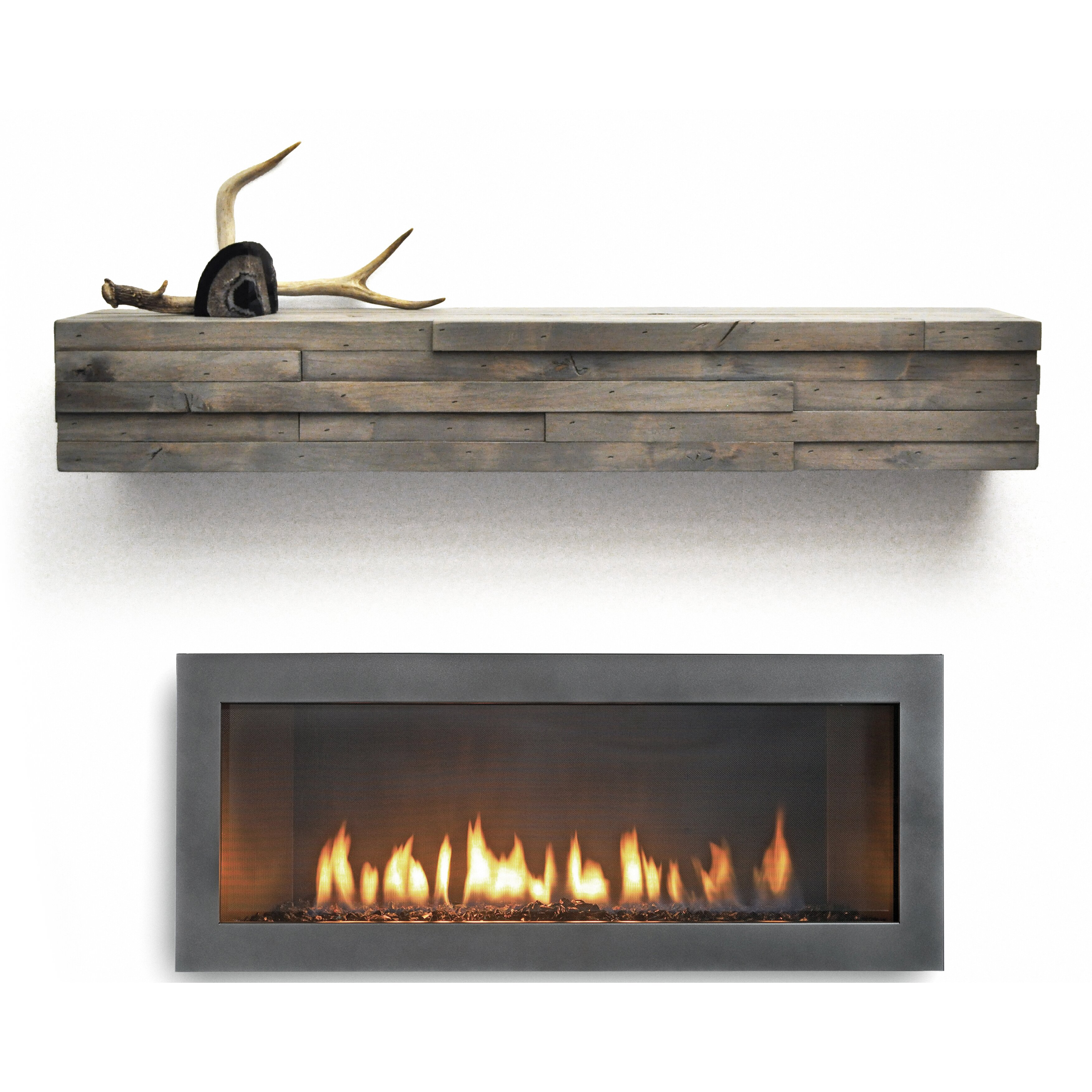 Dogberry Collections Modern Fireplace Mantel Shelf & Reviews