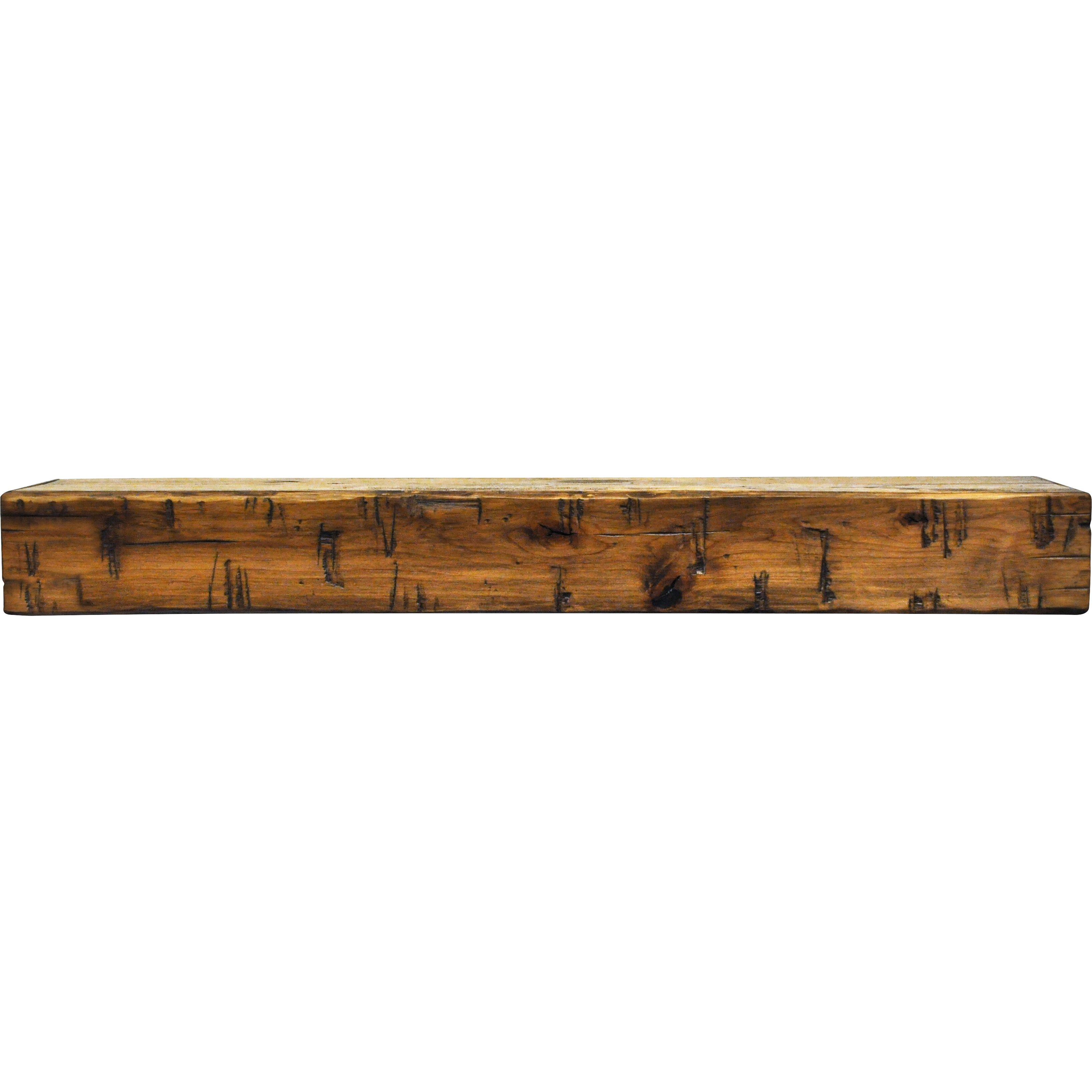 Rustic fireplace mantel shelf by dogberry collections