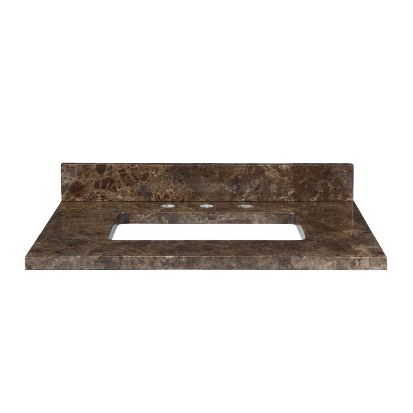 31 marble vanity top for rectangular undermount sink with backsplash