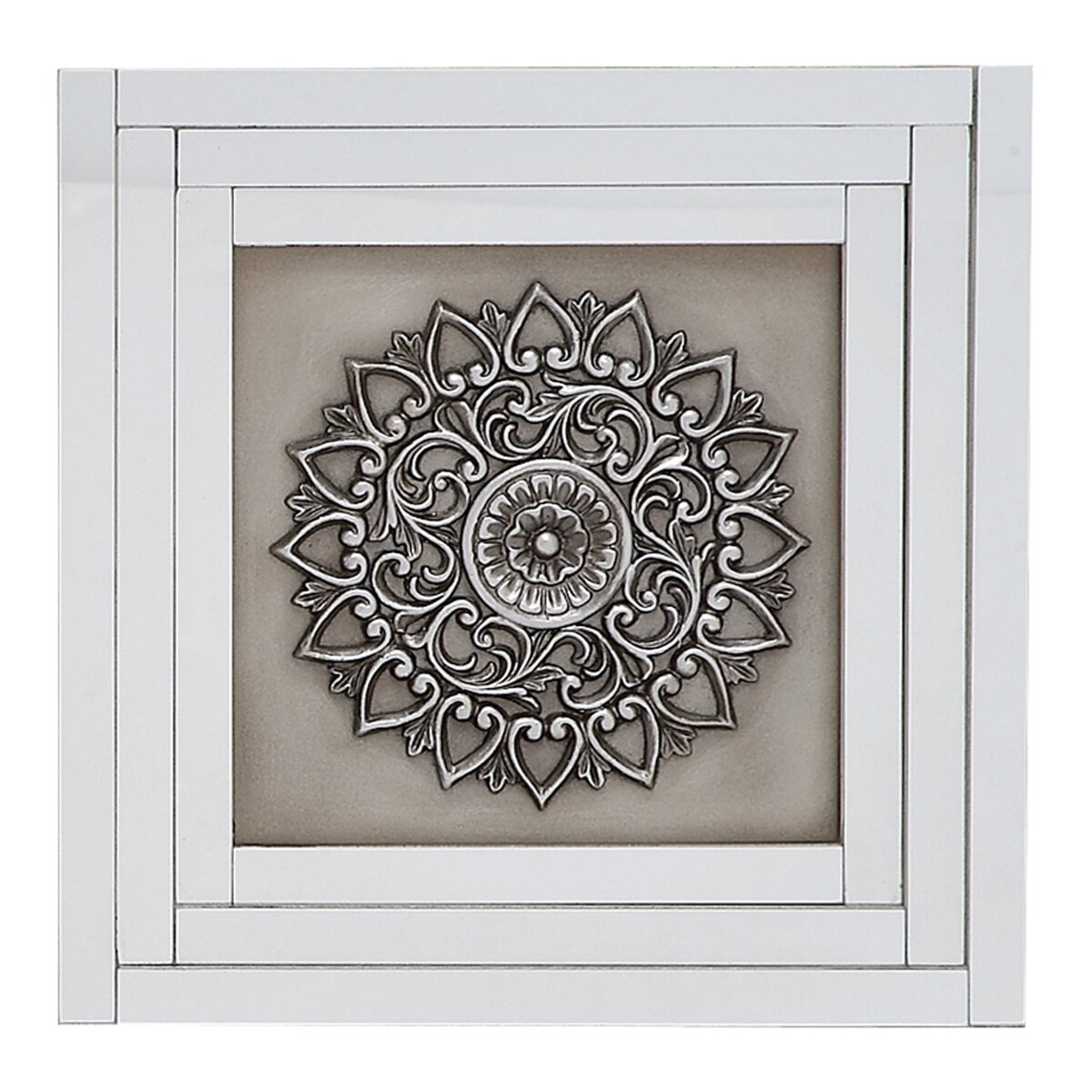 3 piece morocann mirrored wall decor panel set wayfair. Black Bedroom Furniture Sets. Home Design Ideas