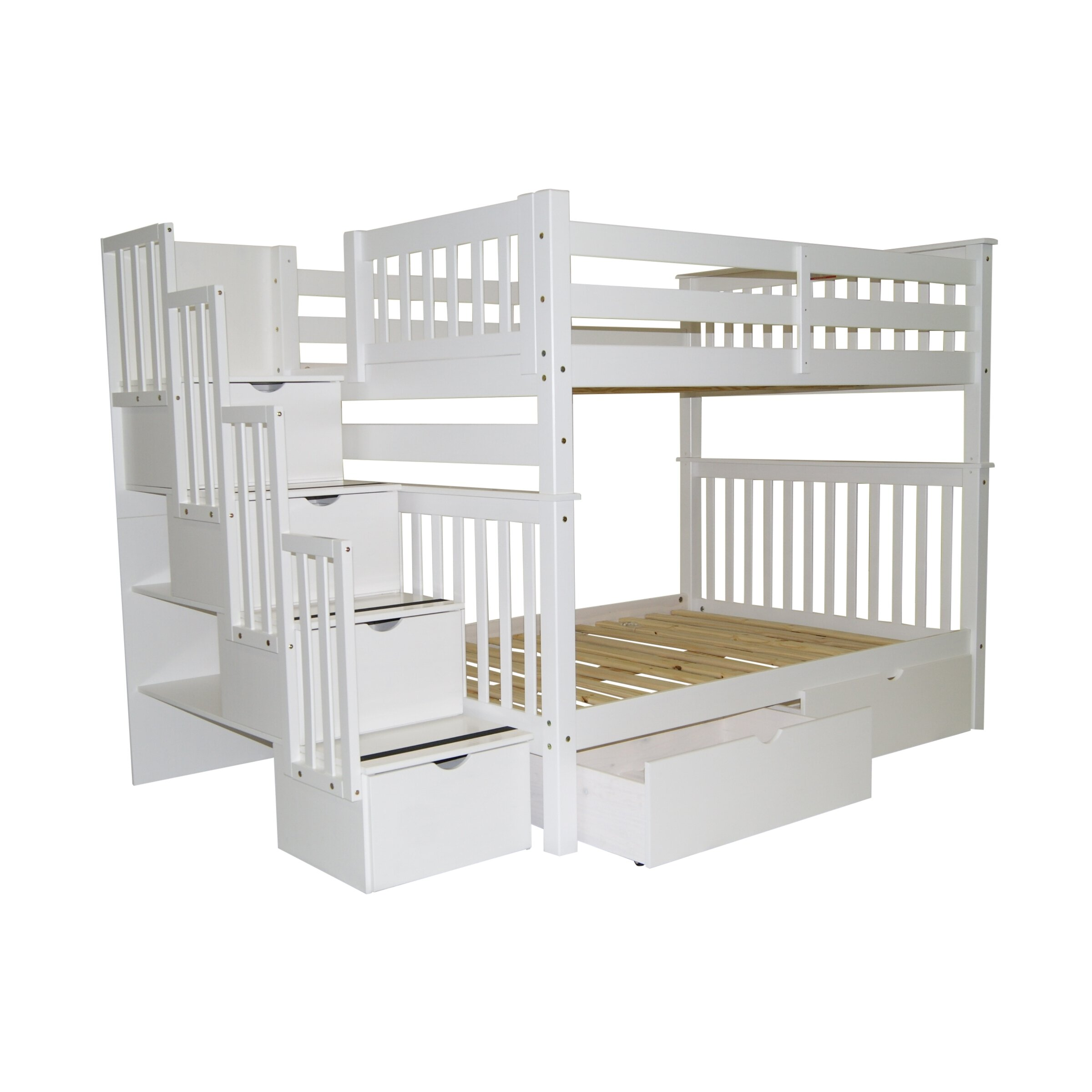 Bedz King Full over Full Bunk Bed with Trundle & Reviews