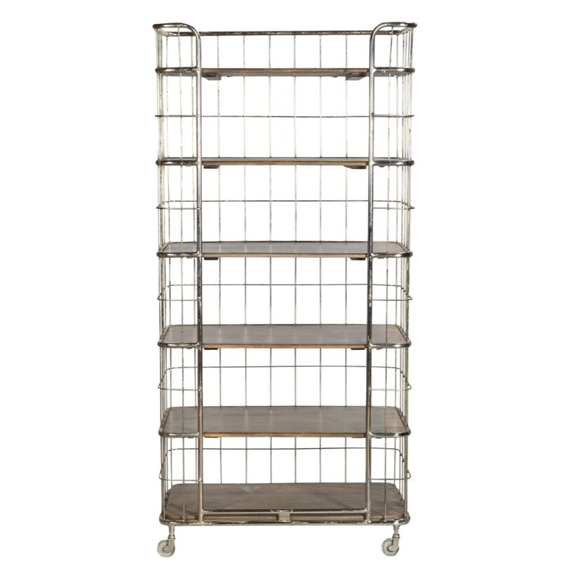 "Cdi International Industrial Kitchen Cart With Mango Top: 75"" Etagere"