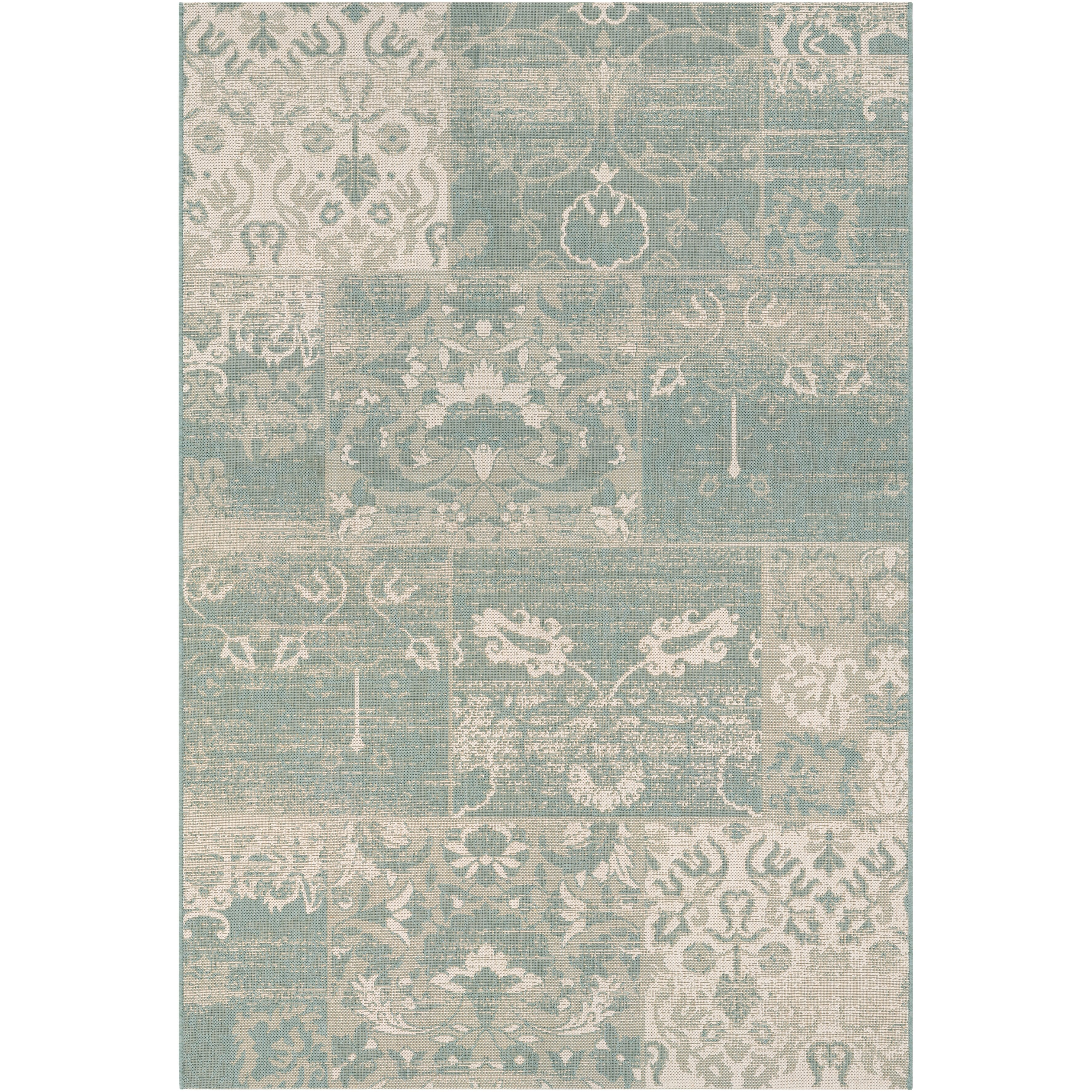 Couristan Afuera Country Cottage Sea Mist Ivory Indoor