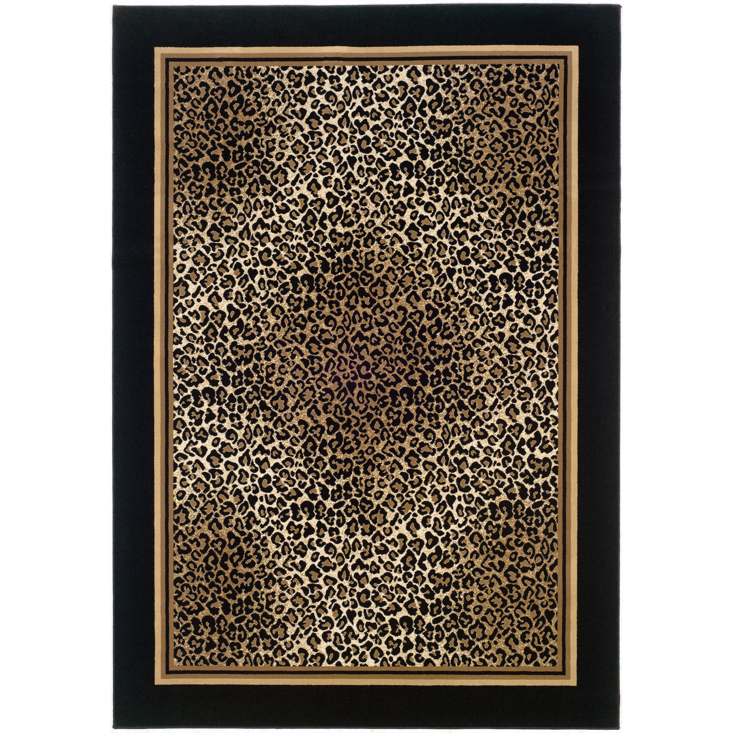 Animal Print Rug Wayfair: Couristan Everest Black Leopard Area Rug & Reviews