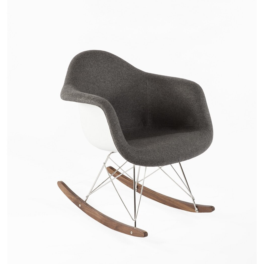 Mid-Century Rocking Chair by Stilnovo