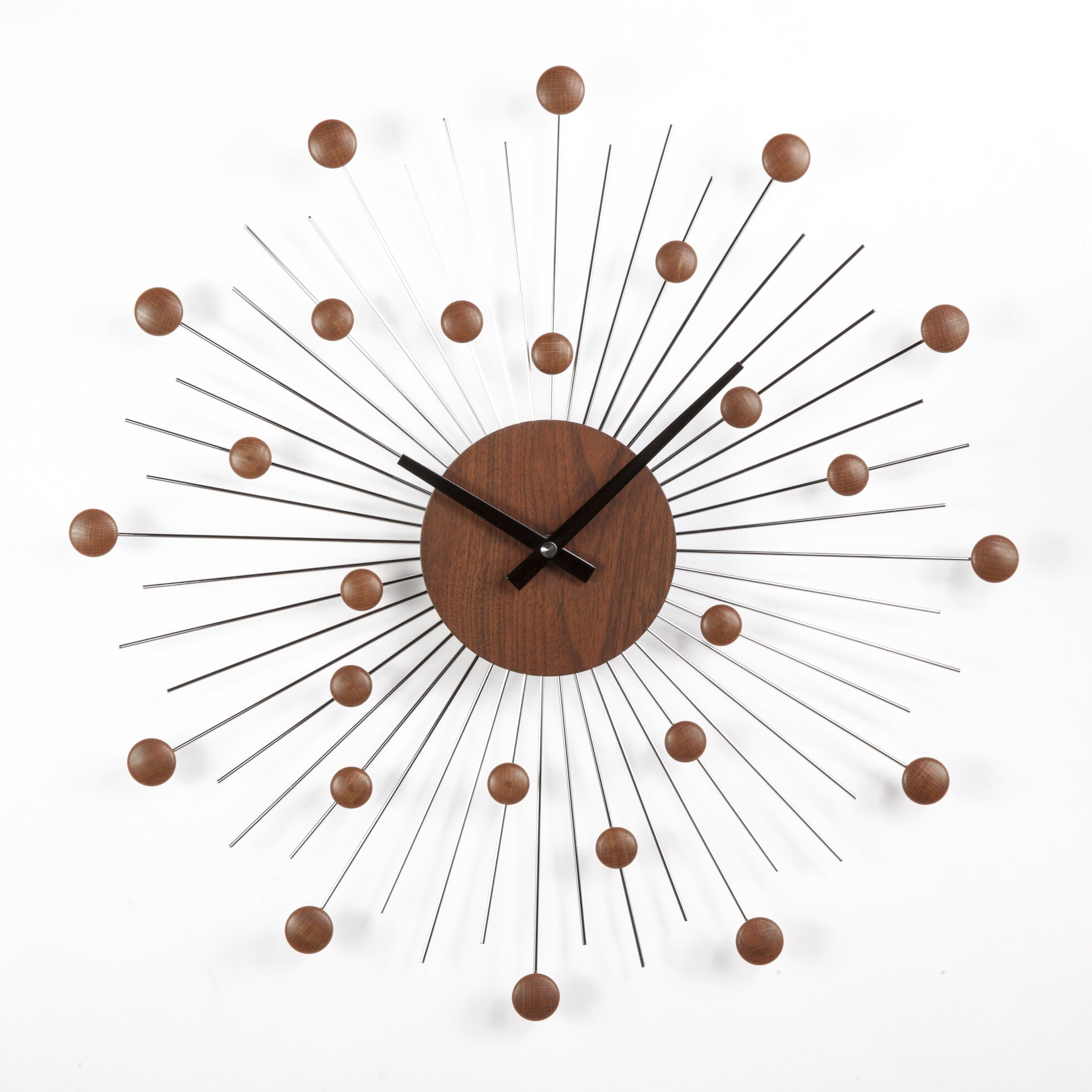 midcentury modern inspired finds from wayfair  dans le lakehouse - star wall clock mid century