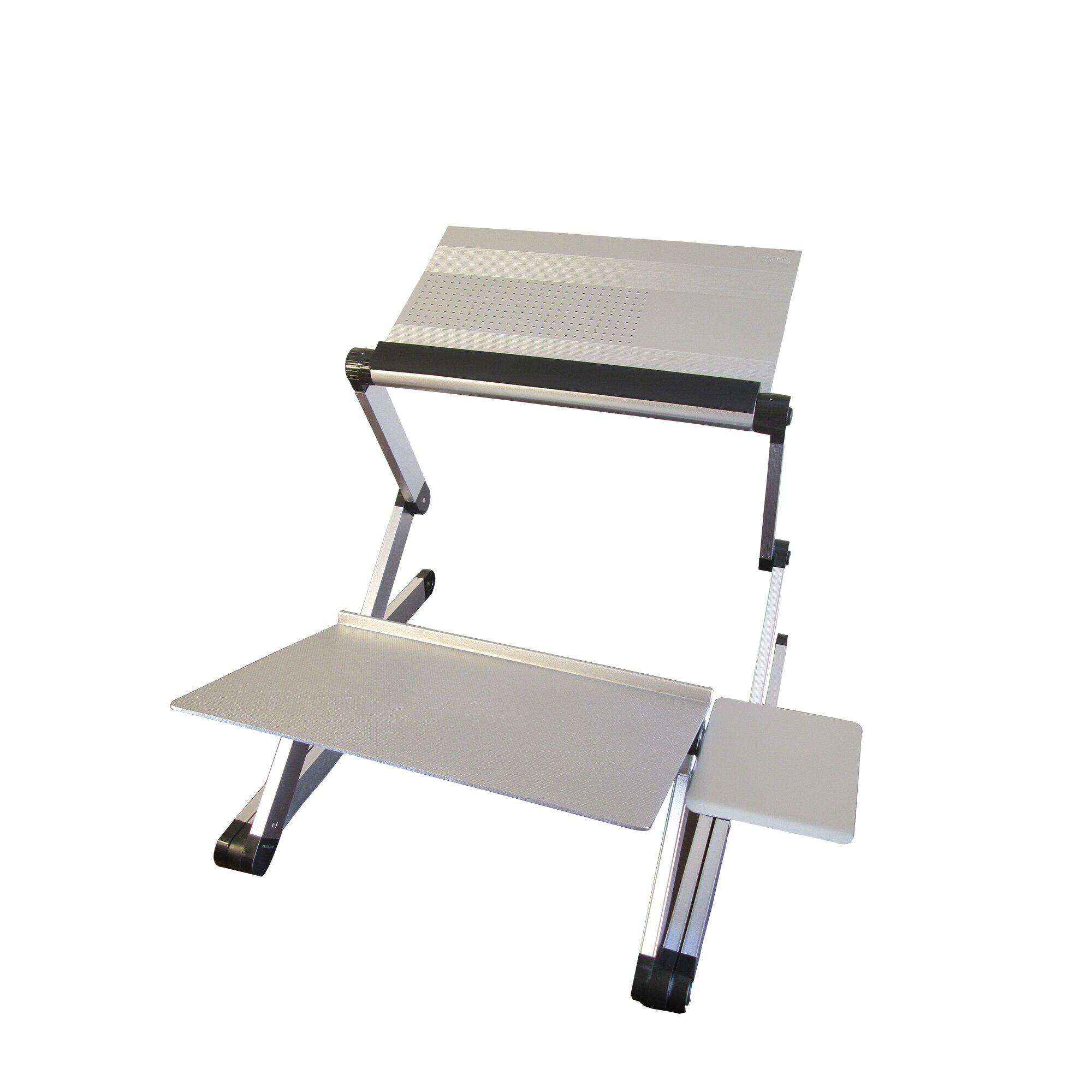 Workez Adjustable Sit Stand Conversion Kit Wayfair