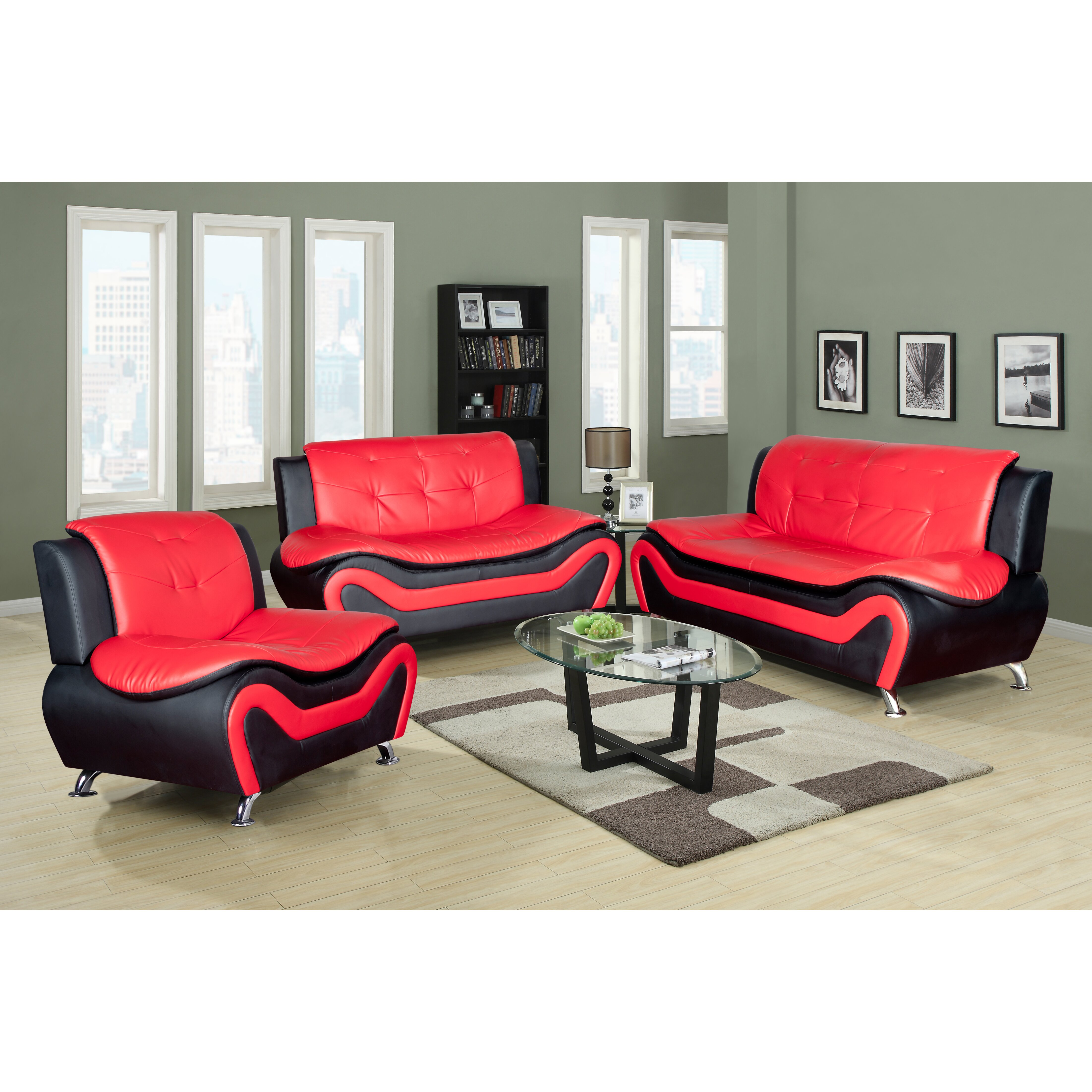 beverly fine furniture linda 3 piece leather living room set reviews. Black Bedroom Furniture Sets. Home Design Ideas
